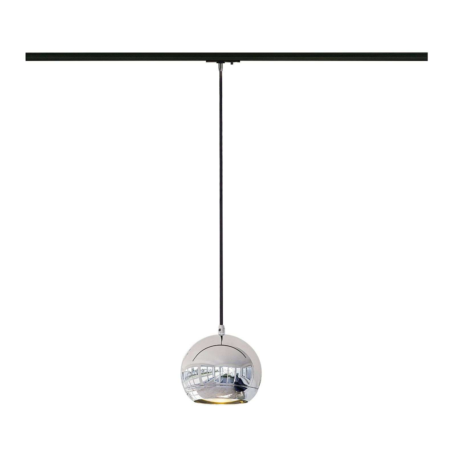 Suspension chromée Light Eye pour rails