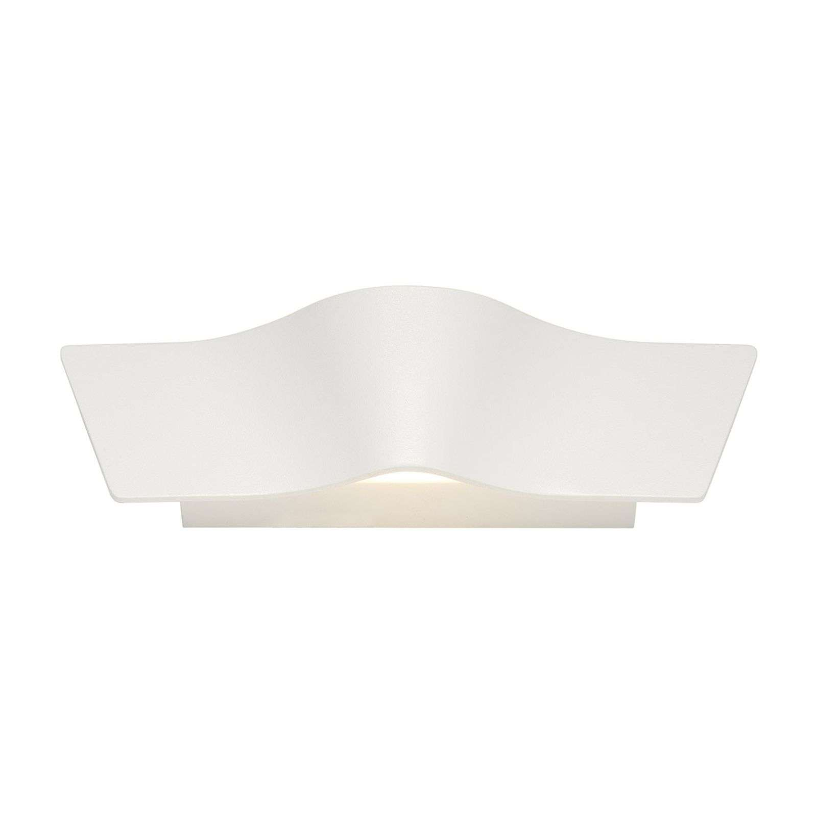Applique LED blanche Wave, intensité variable