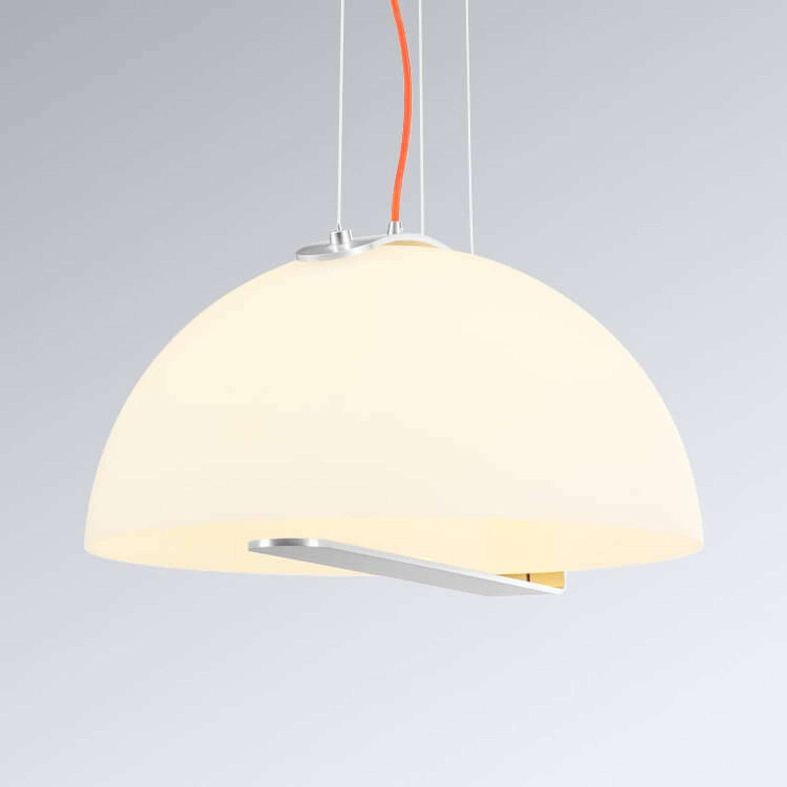 Belle suspension LED Brenda, abat-jour de verre