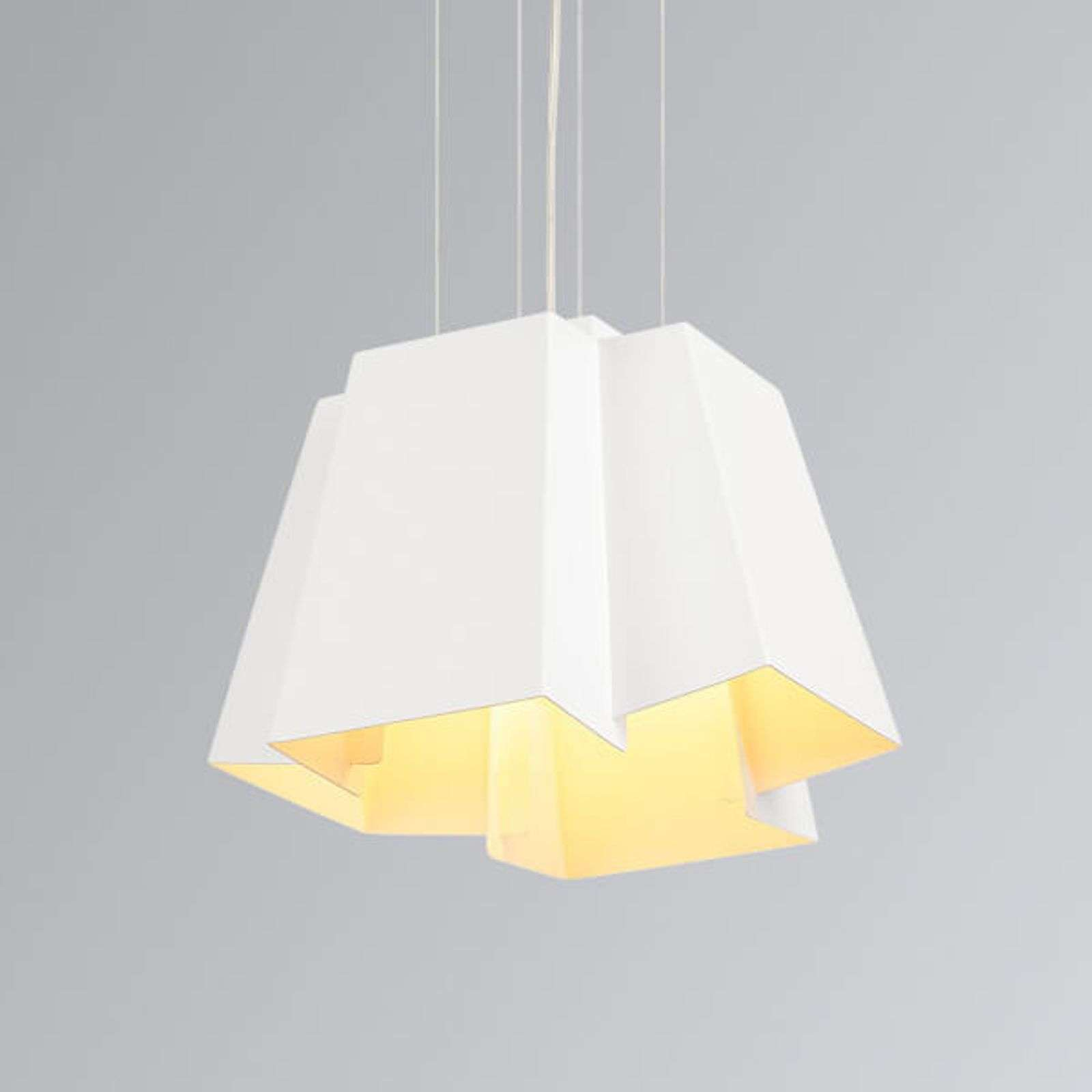 Suspension design blanche Soberbia avec LED