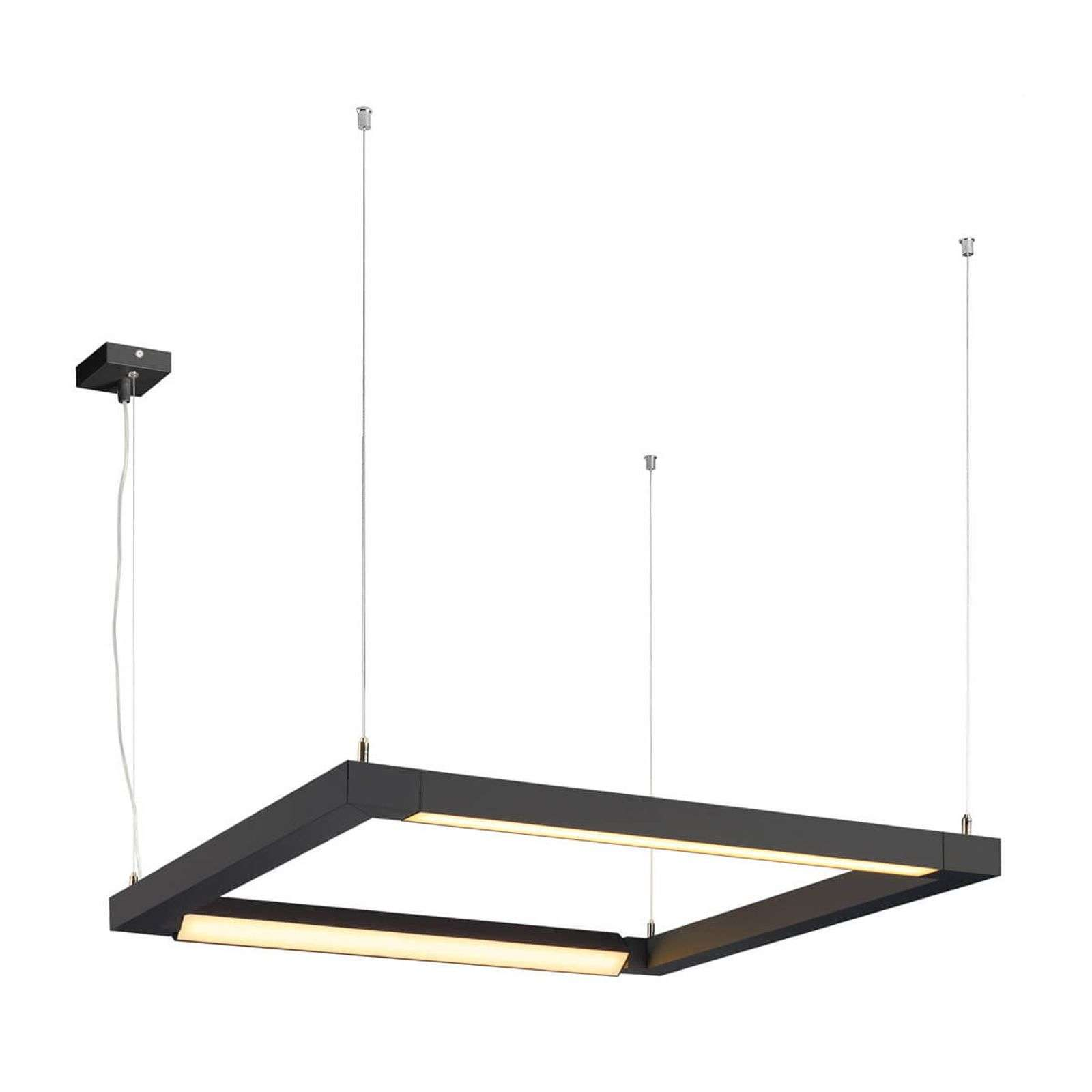 Suspension LED Open Grill noire, 2 lampes