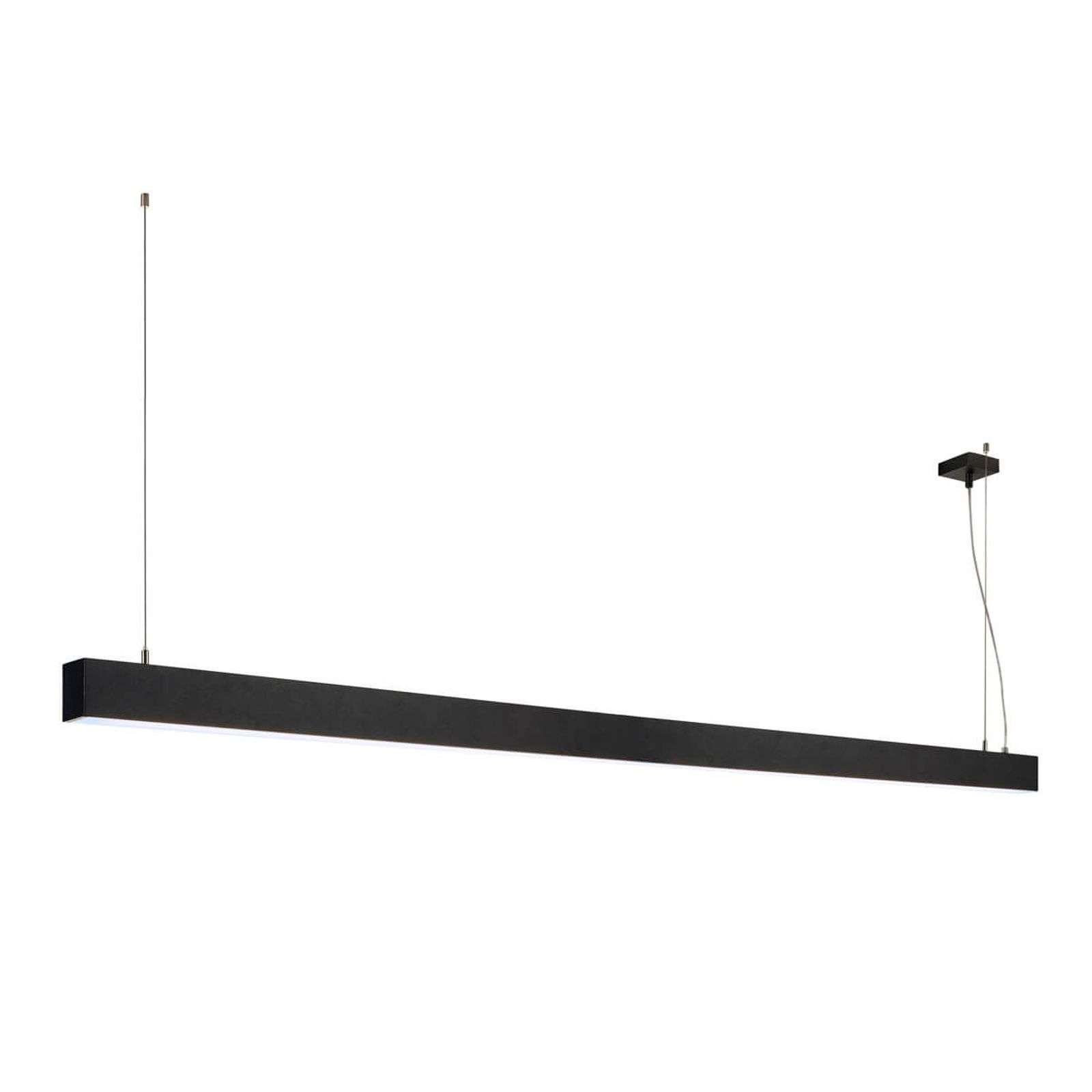 Suspension LED Glenos 200,5 cm noire
