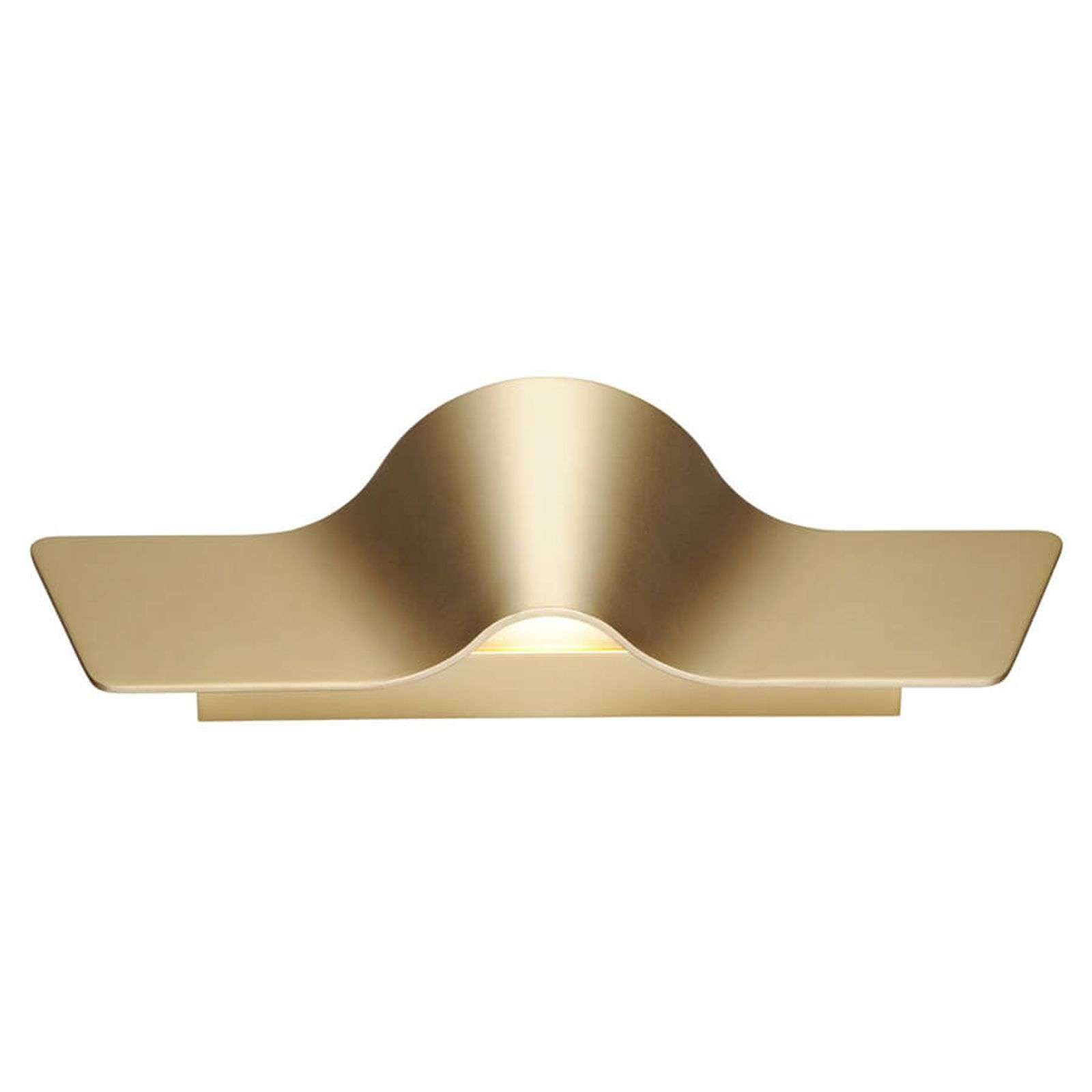 Applique LED Wave couleur laiton