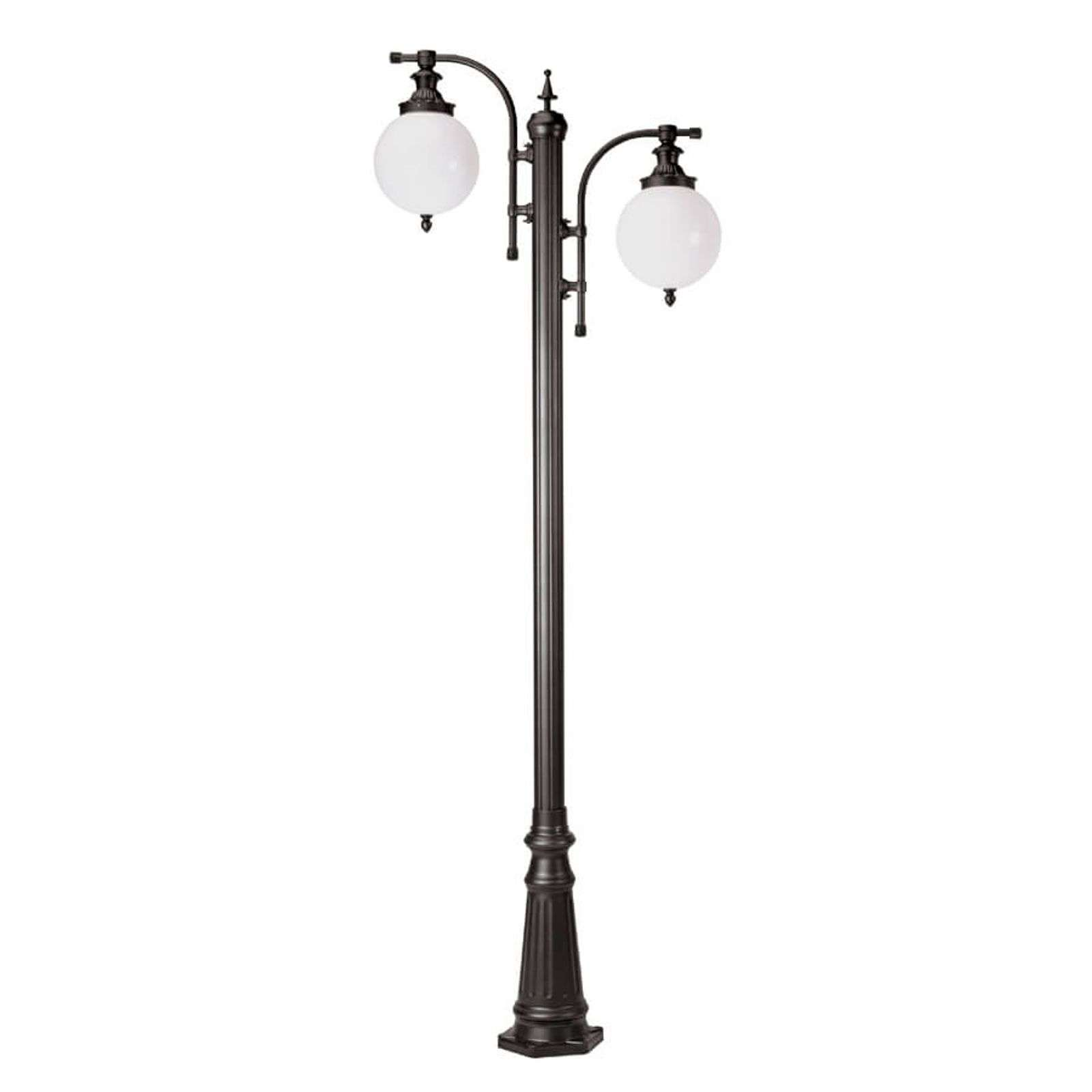 Lampadaire Madeira anthracite à 2 lampes