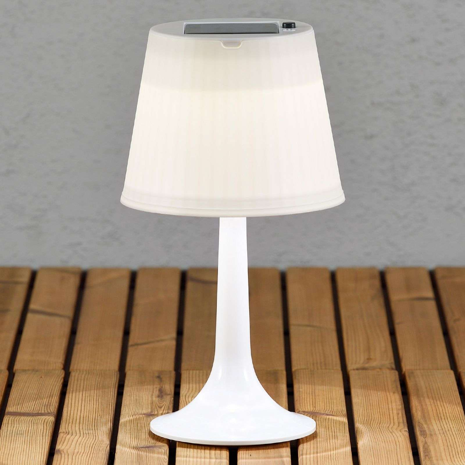 Lampe à poser LED solaire blanche Assisi Sitra