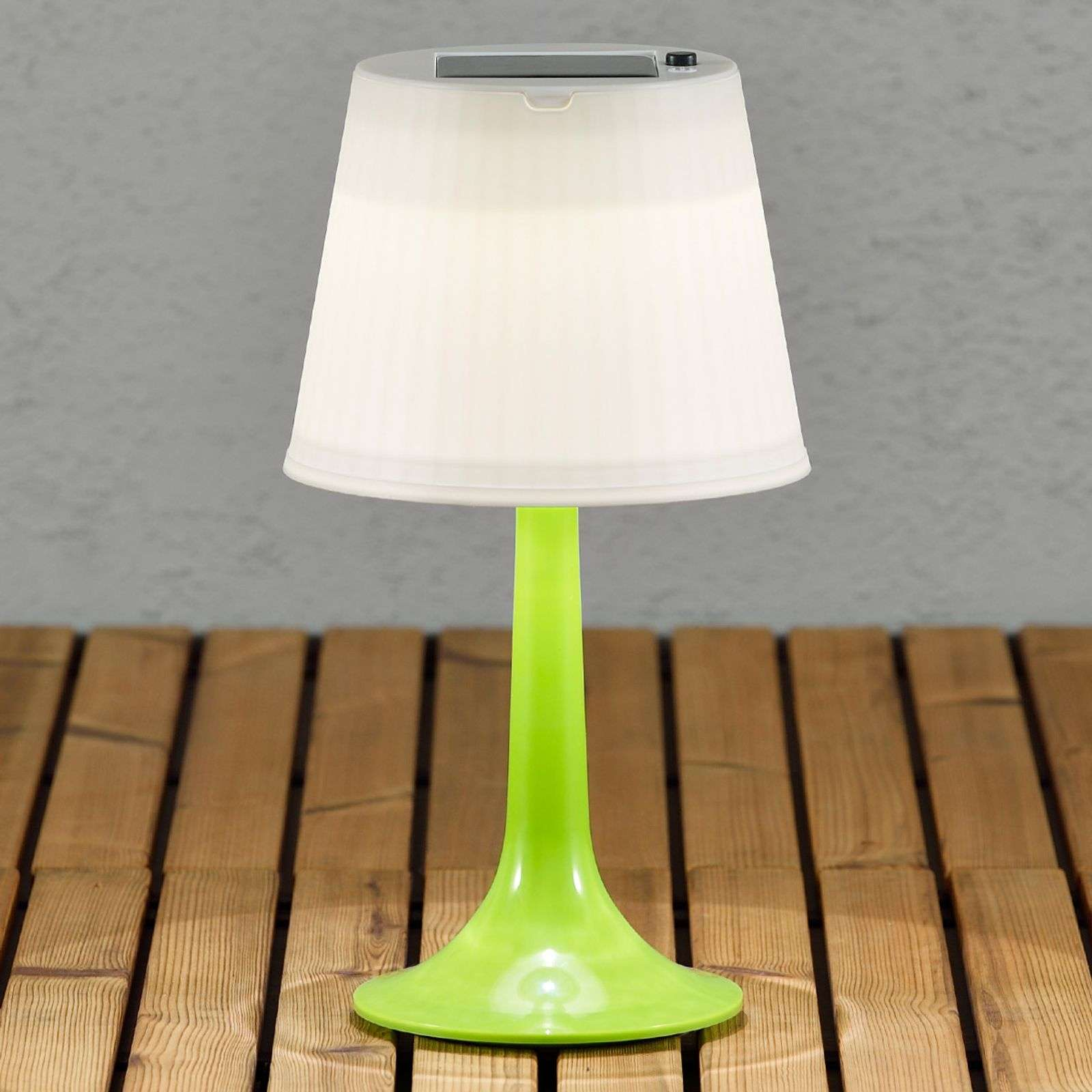 Lampe à poser solaire LED verte Assisi Sitra