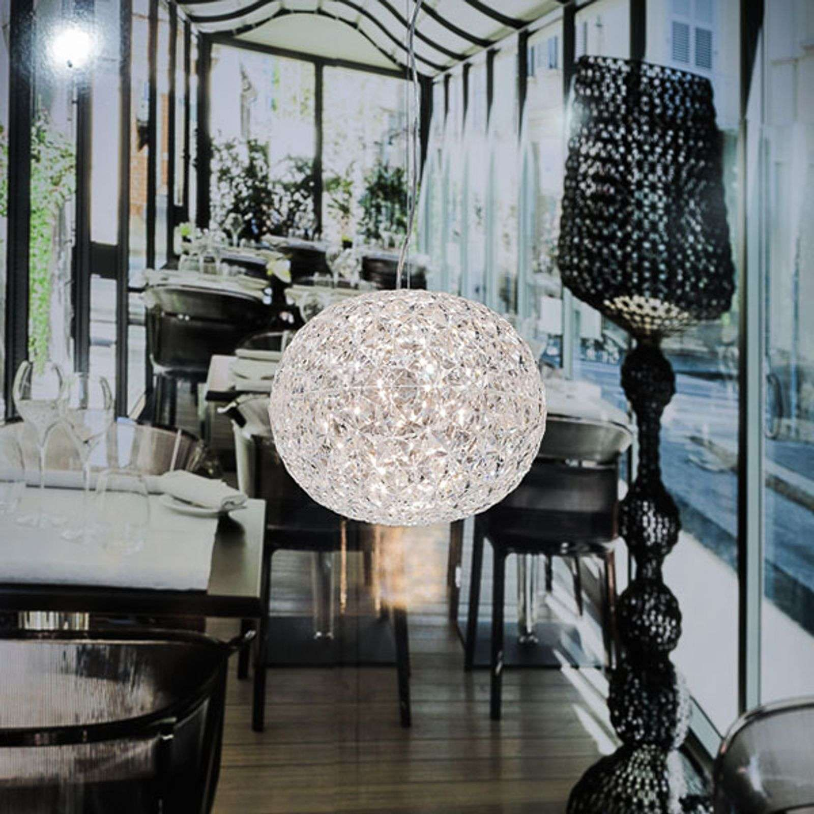 Suspension LED de designer transparente Planet