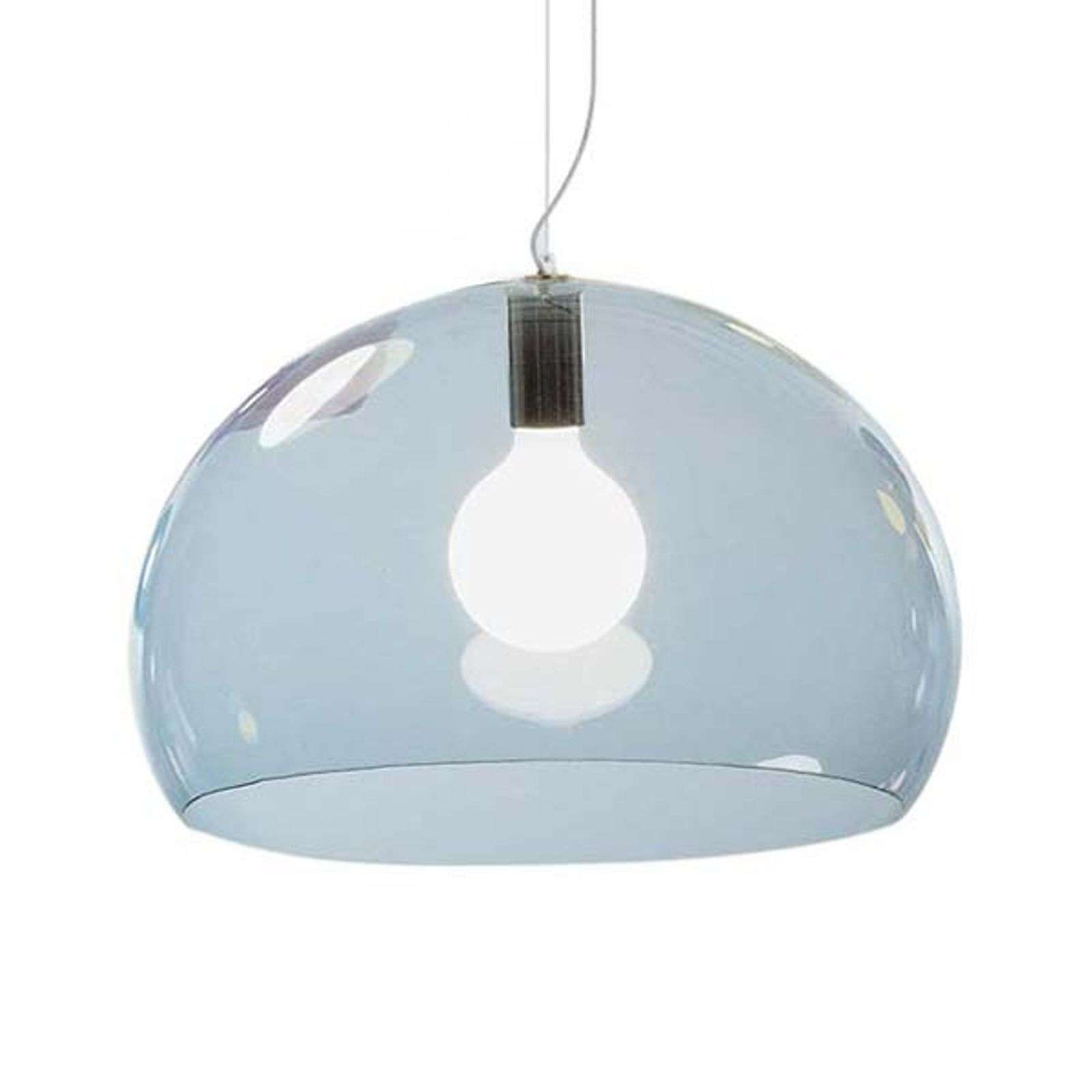 Kartell FL/Y suspension LED, bleu ciel