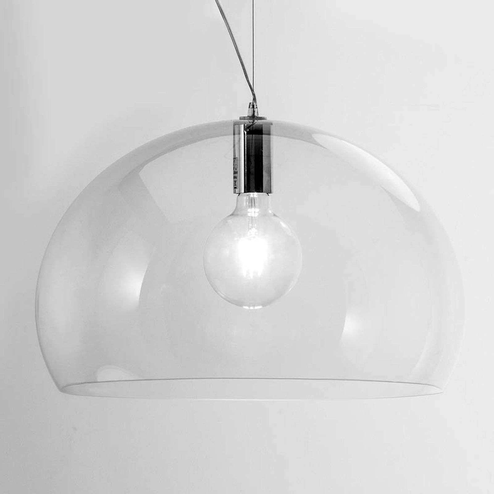 Kartell Big FL/Y suspension LED, transparent