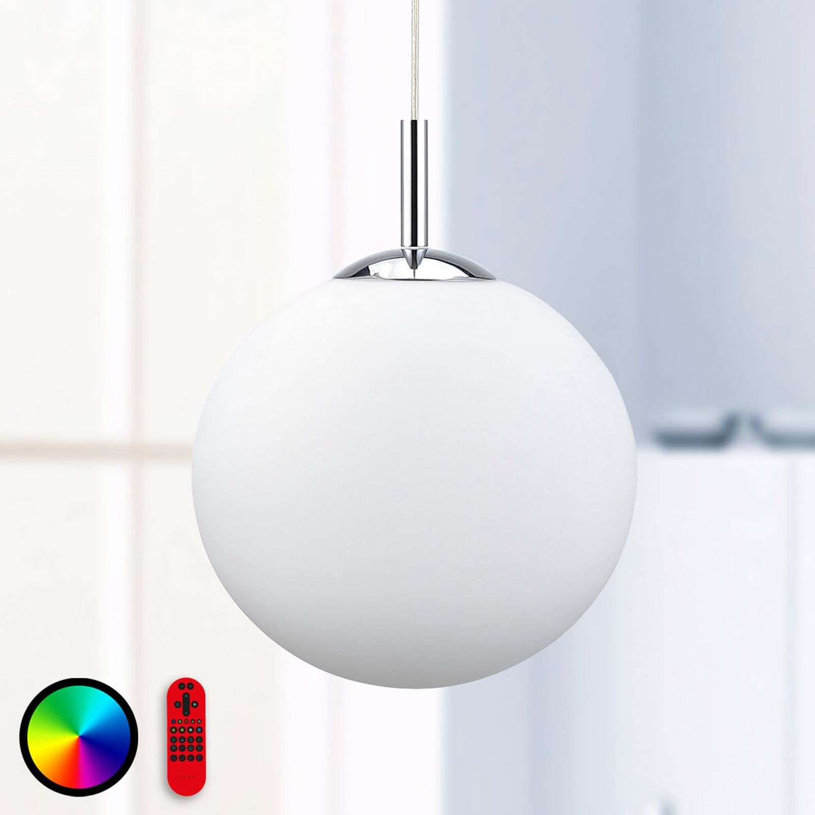 Élégante suspension LED RGBW Lola-Bolo Ø 30 cm