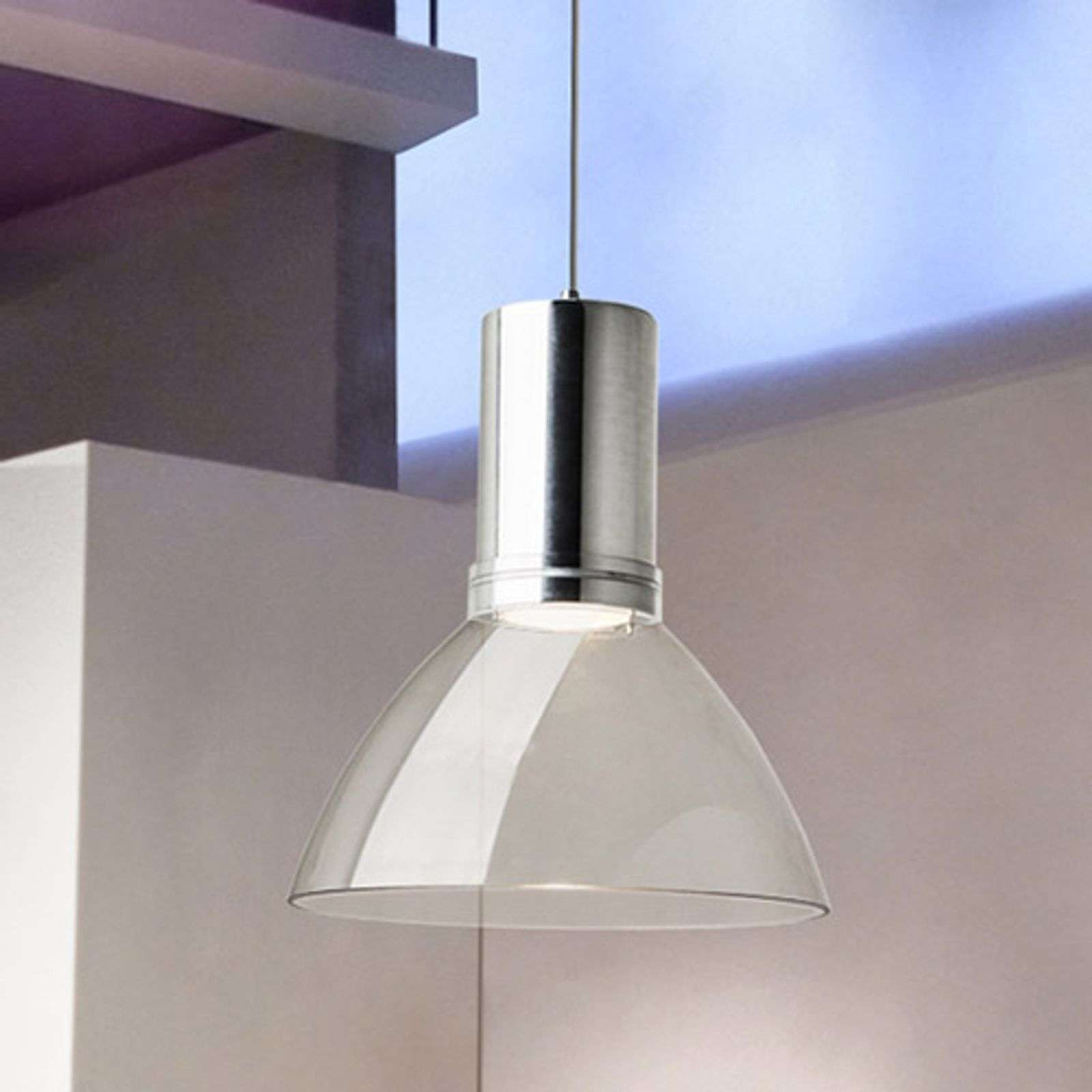 Suspension LED Bell transparente