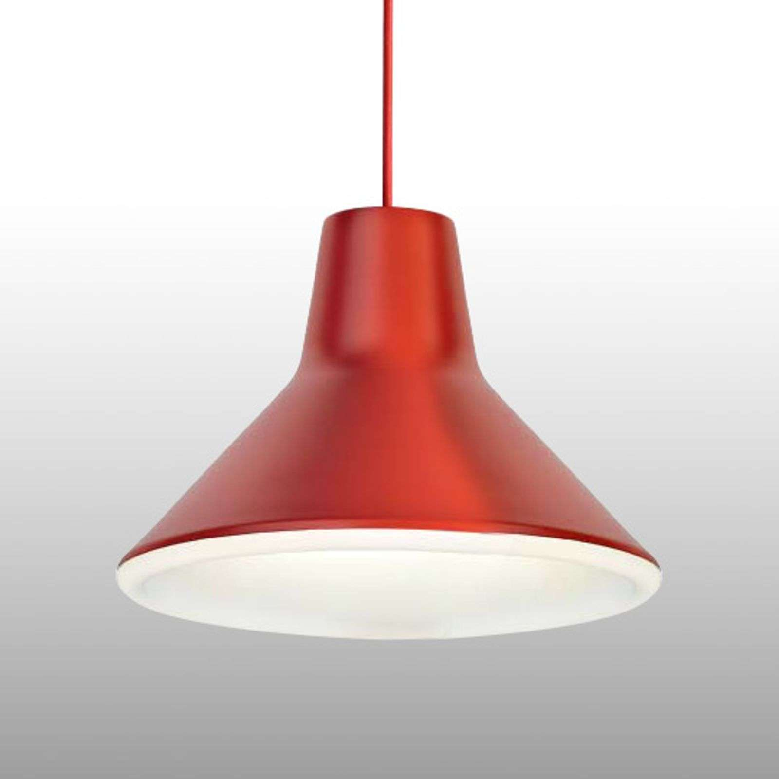 Suspension de designer Archetype LED, rouge