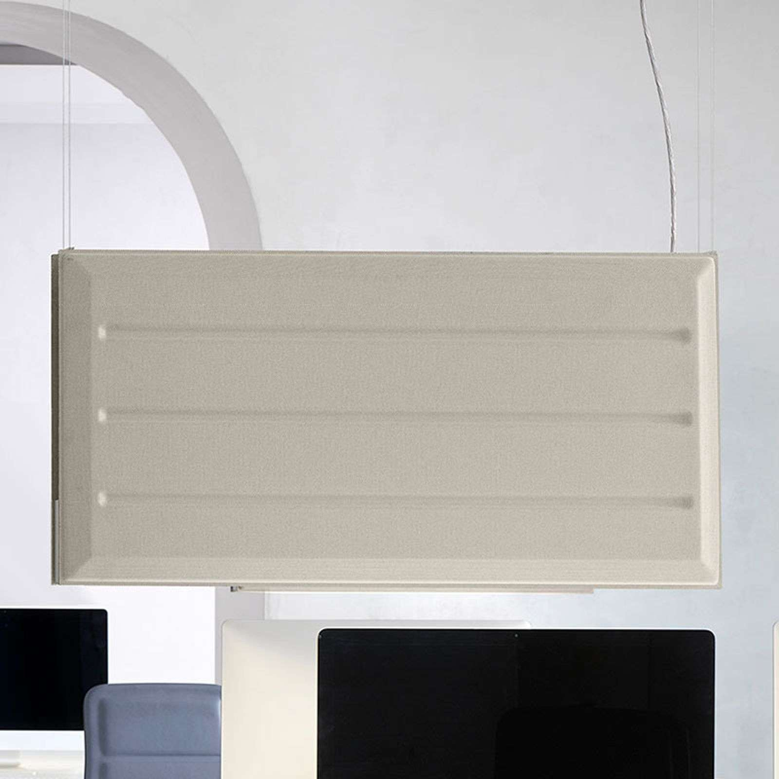 Luceplan Diade suspension LED verticale beige 120