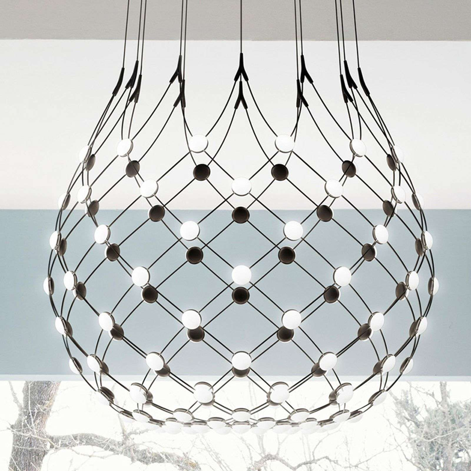 Luceplan Mesh suspension Ø 100 cm Wireless 5 m