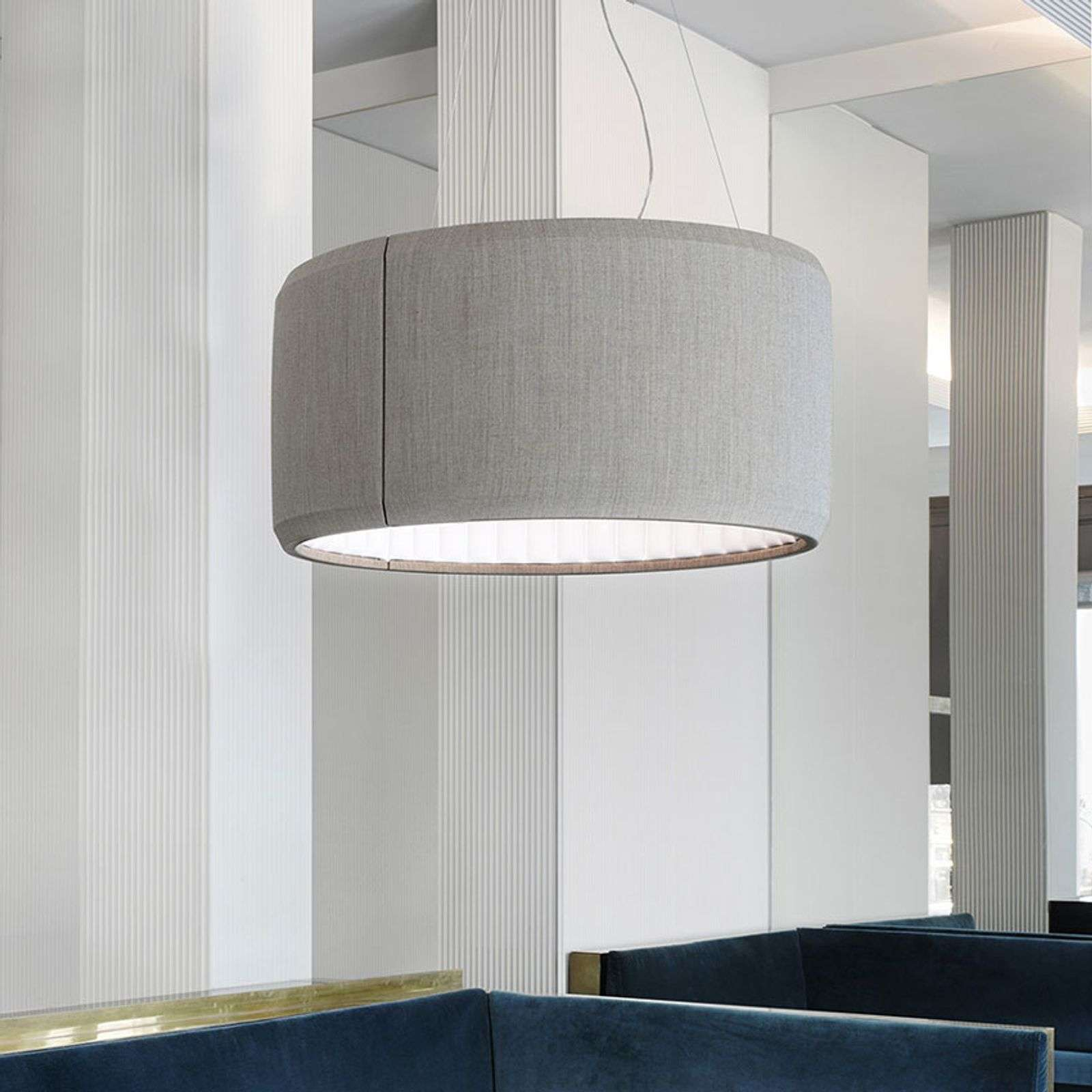 Luceplan Silenzio suspension LED grise Ø 90 cm