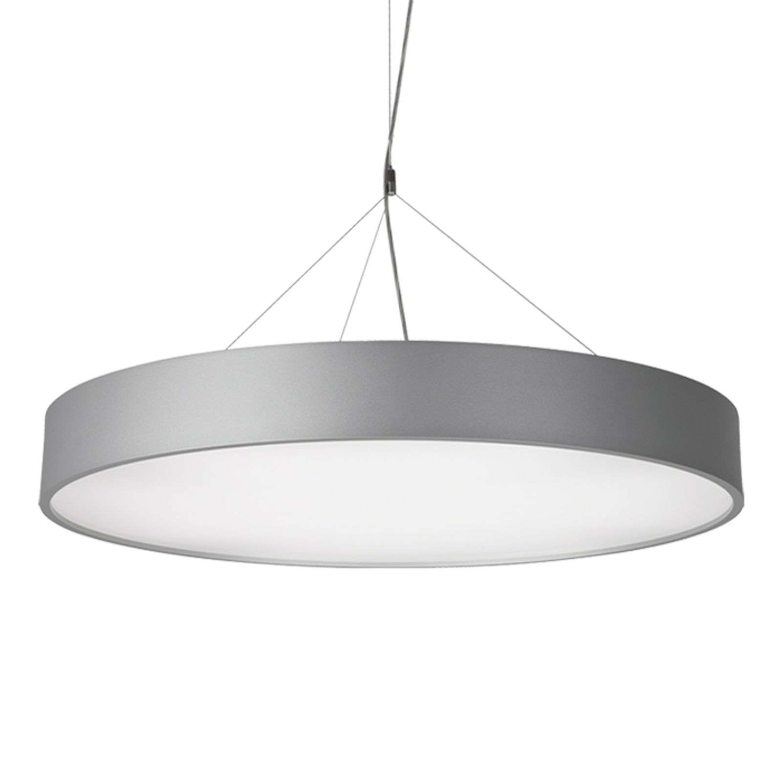Suspension LED P945 rond gris argenté