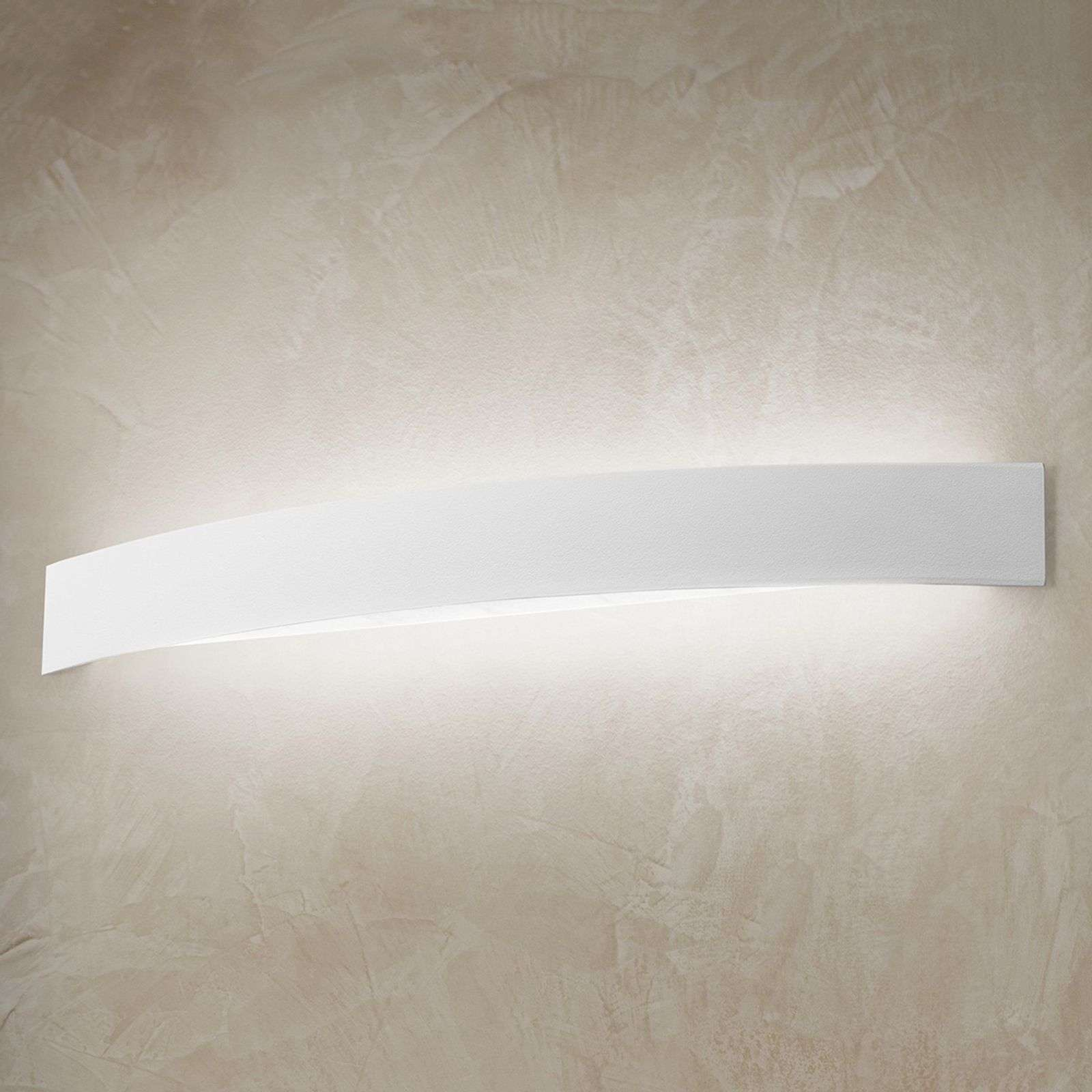 Applique LED courbée Curve en blanc
