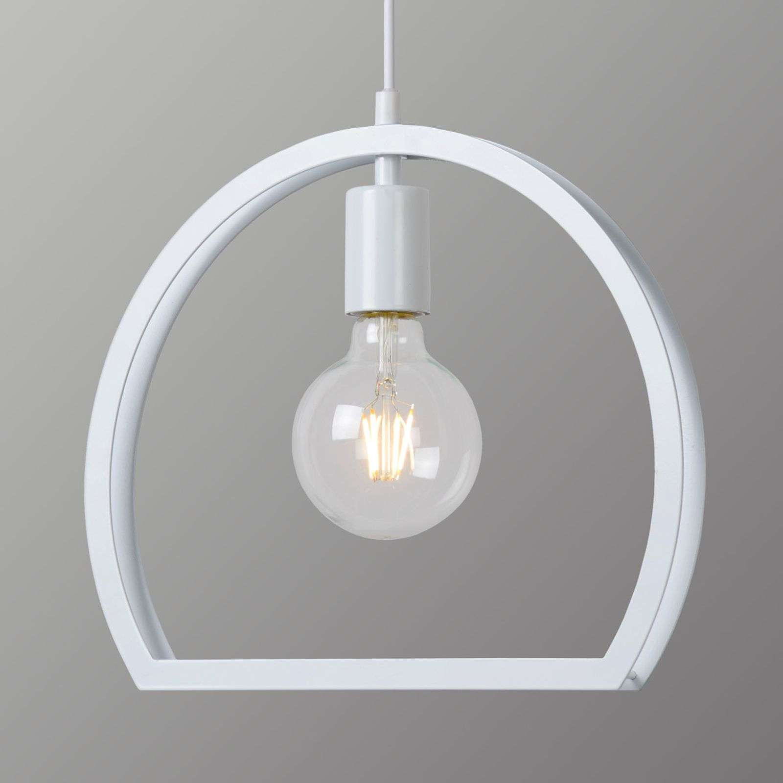 Suspension blanche moderne Contour