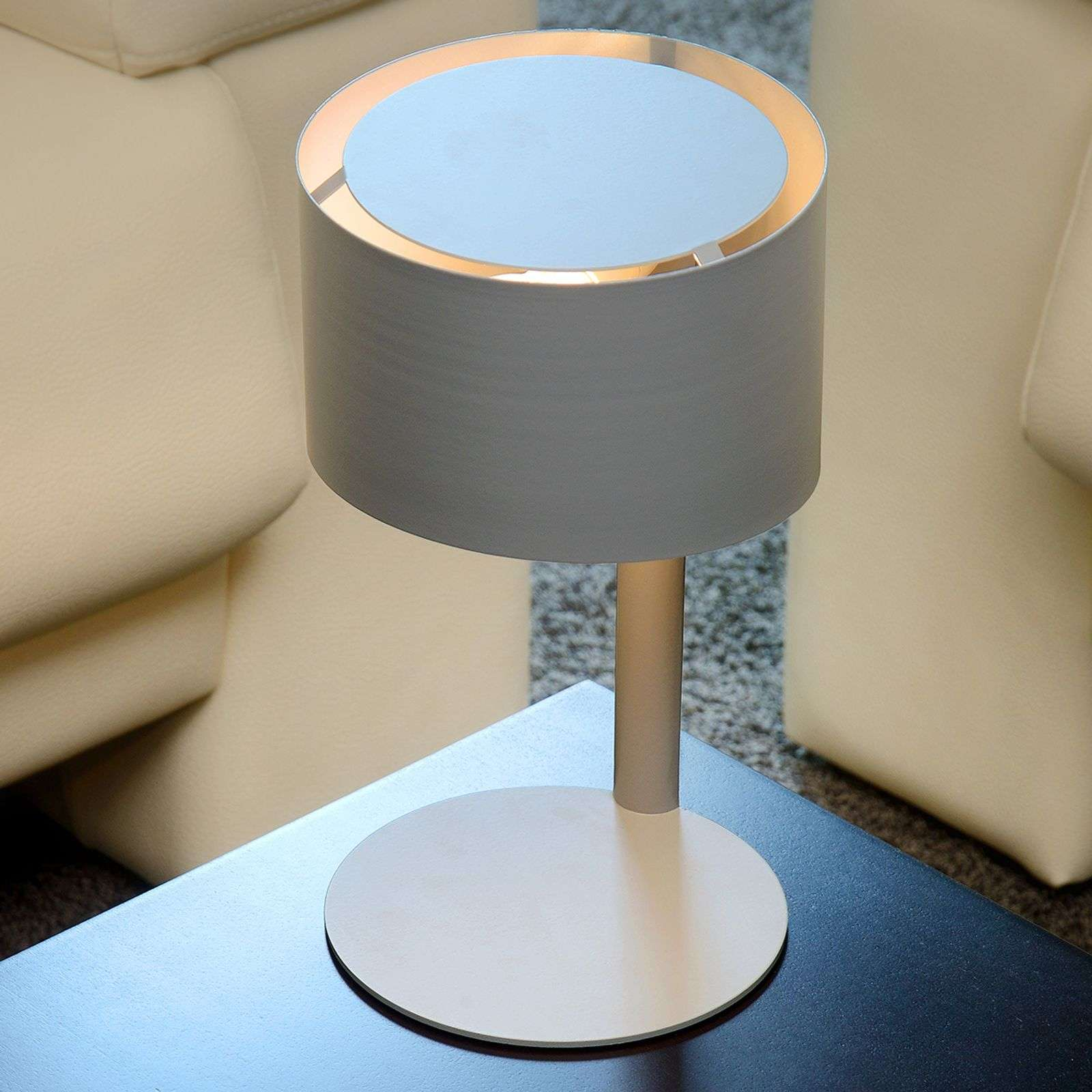 Lampe à poser Knulle, grise