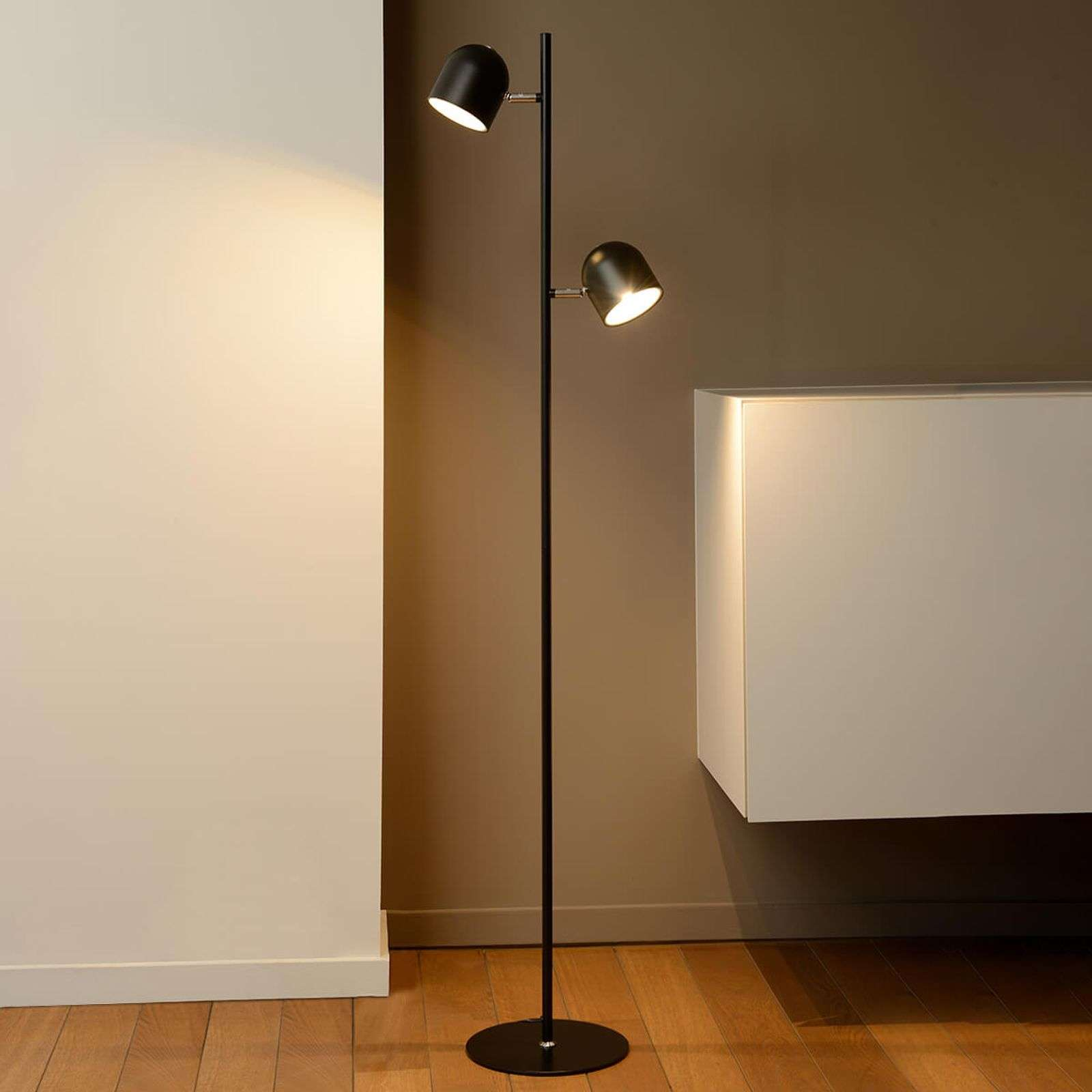 Lampadaire LED dimmable Skanska en noir