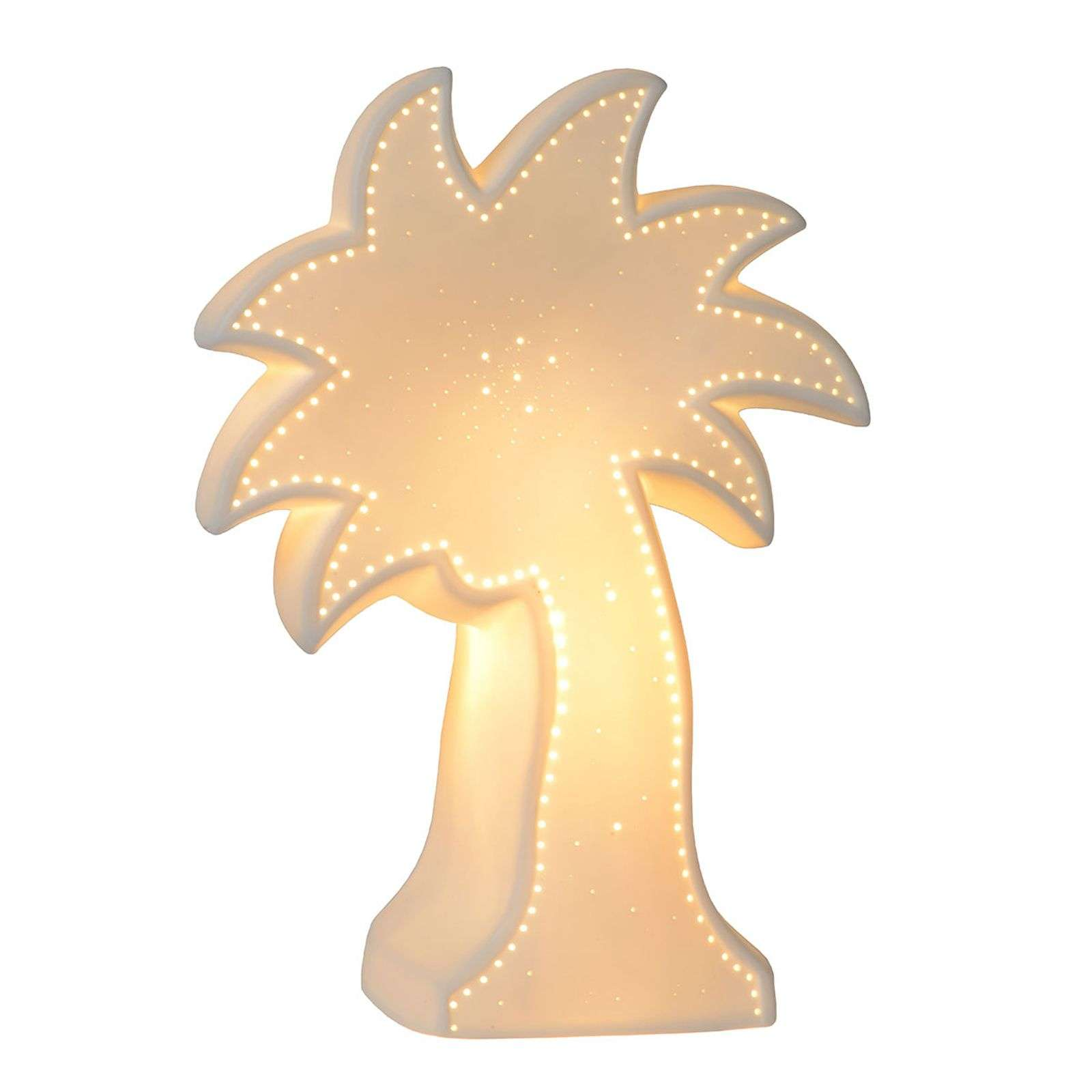 Belle lampe à poser décorative Palm en blanc