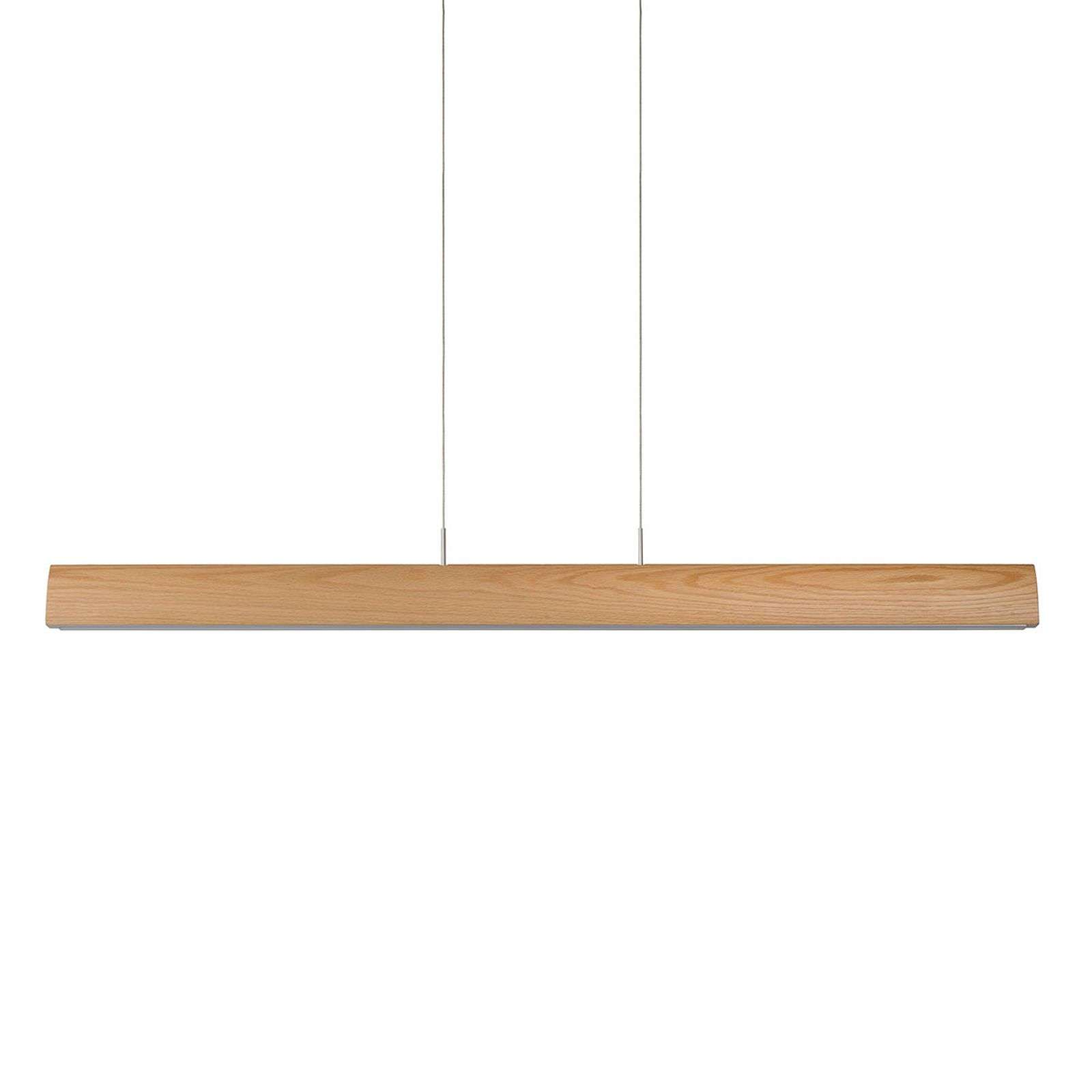 Suspension LED rectiligne Sytze en bois