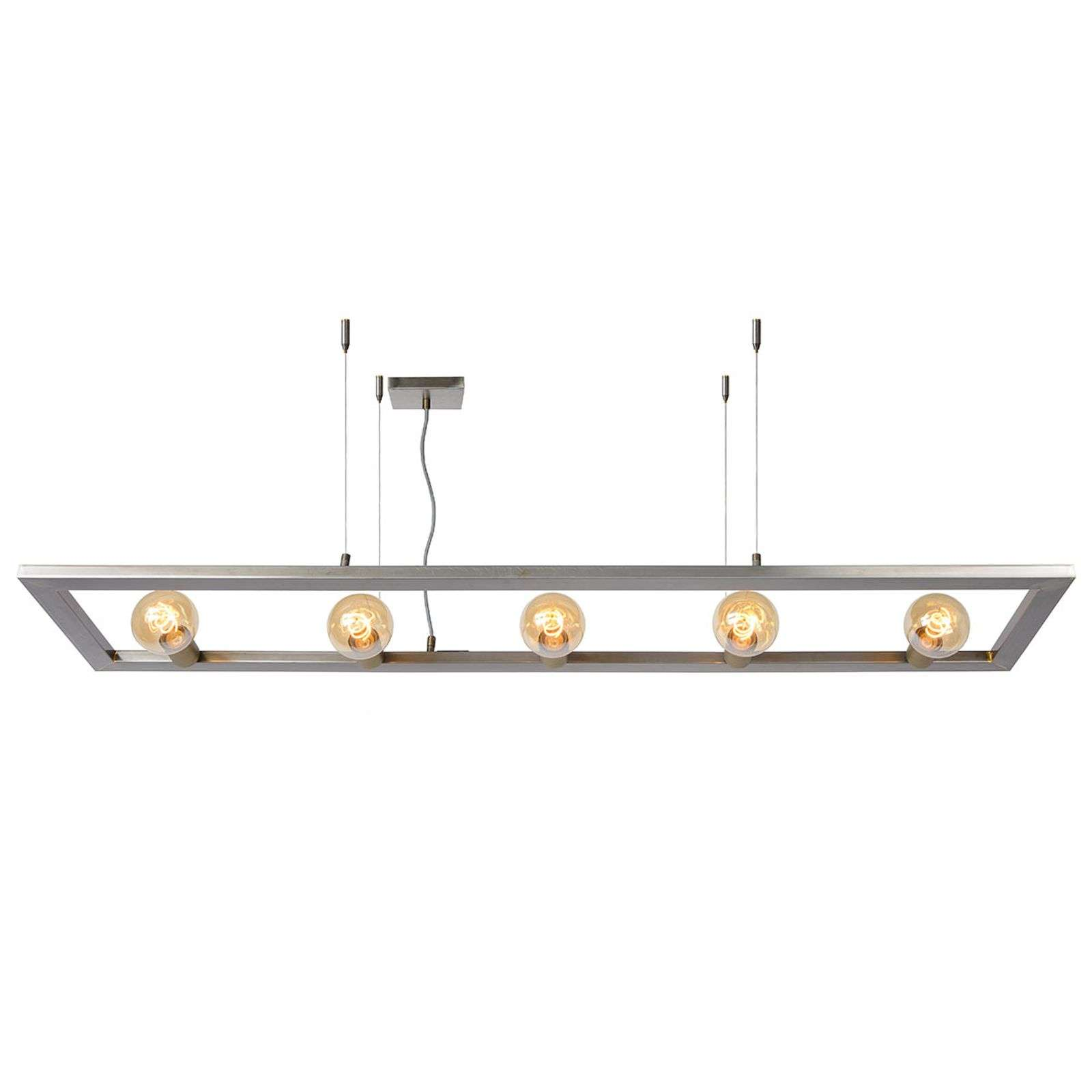 Suspension Thor cinq lampes, fer brut