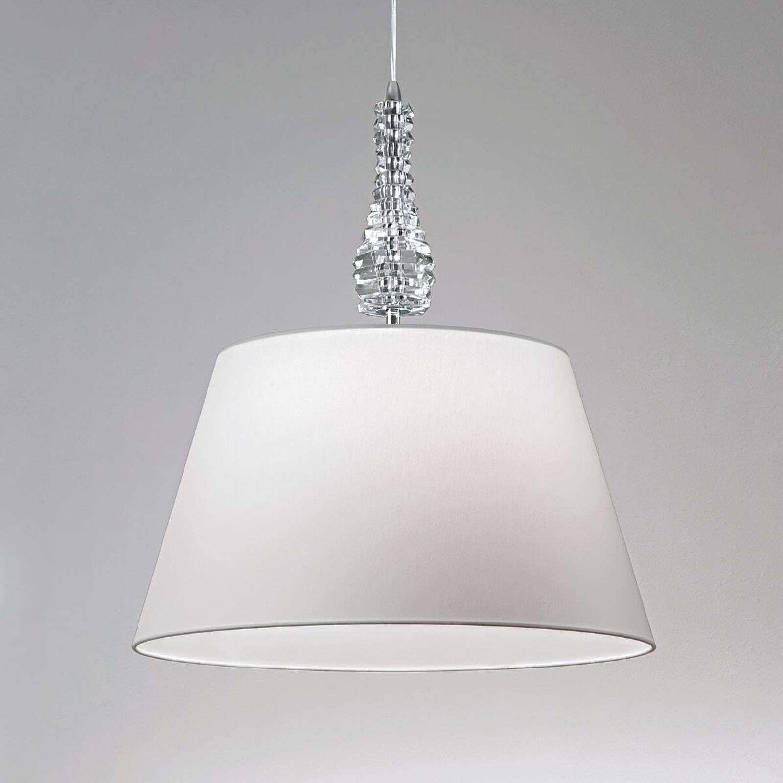 Grande suspension Crystal blanc