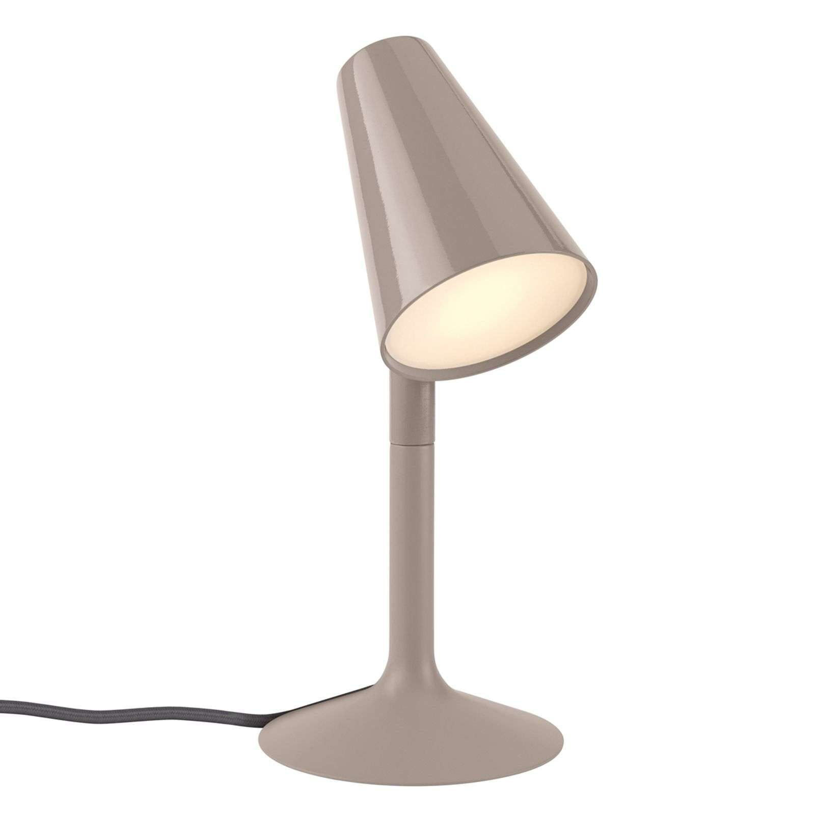 Lampe à poser LED Piculet, taupe