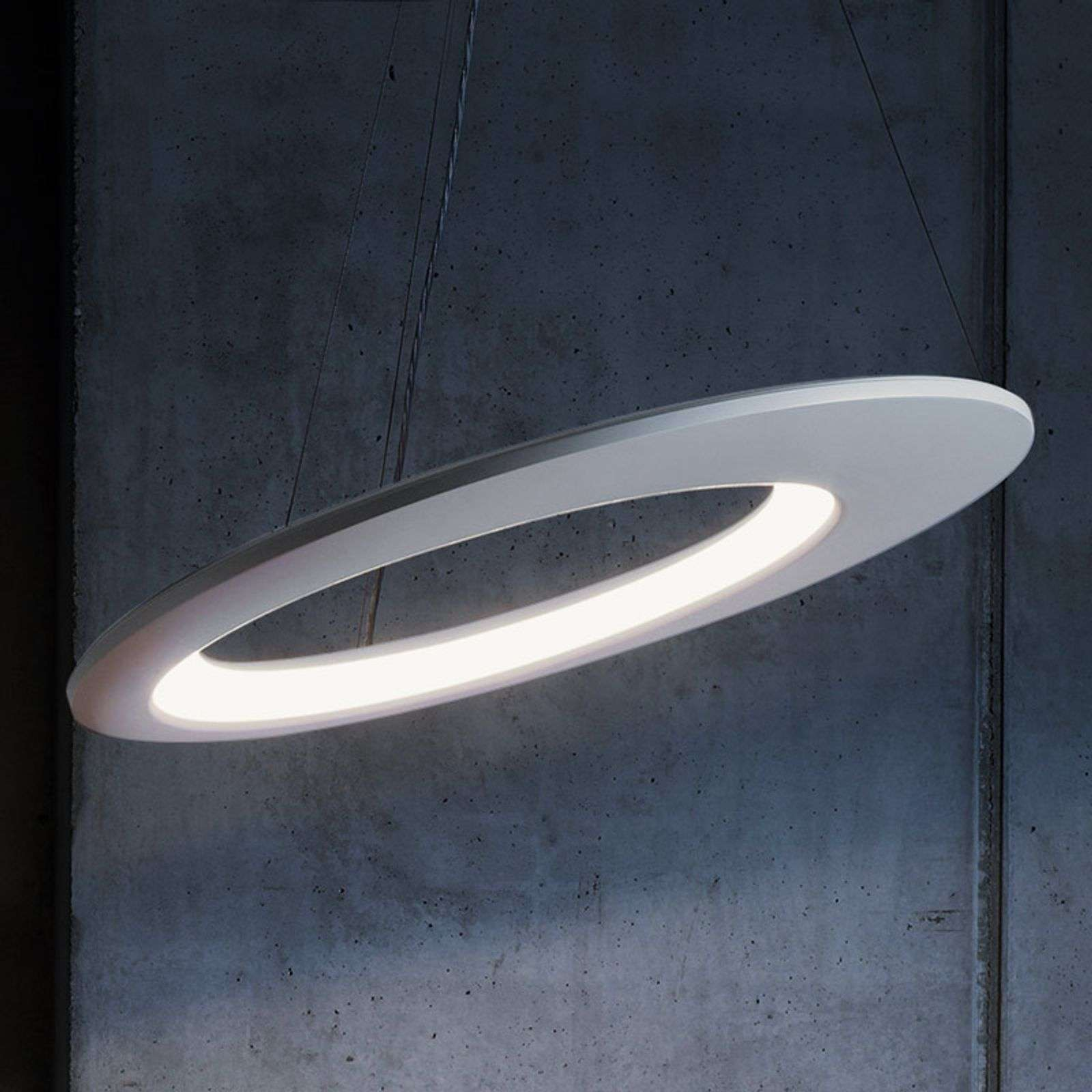 Suspension de designer LED Ecliptic blanc 65 cm