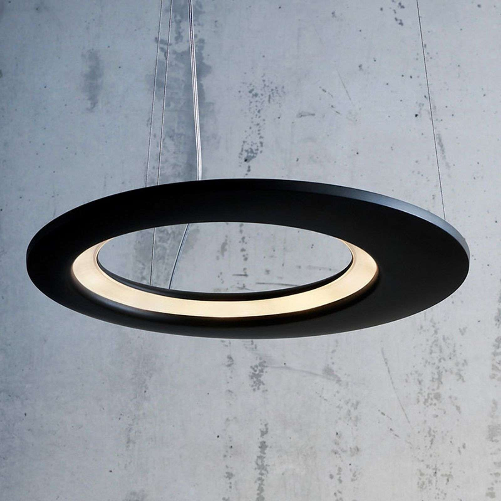 Suspension de designer LED Ecliptic noir 65