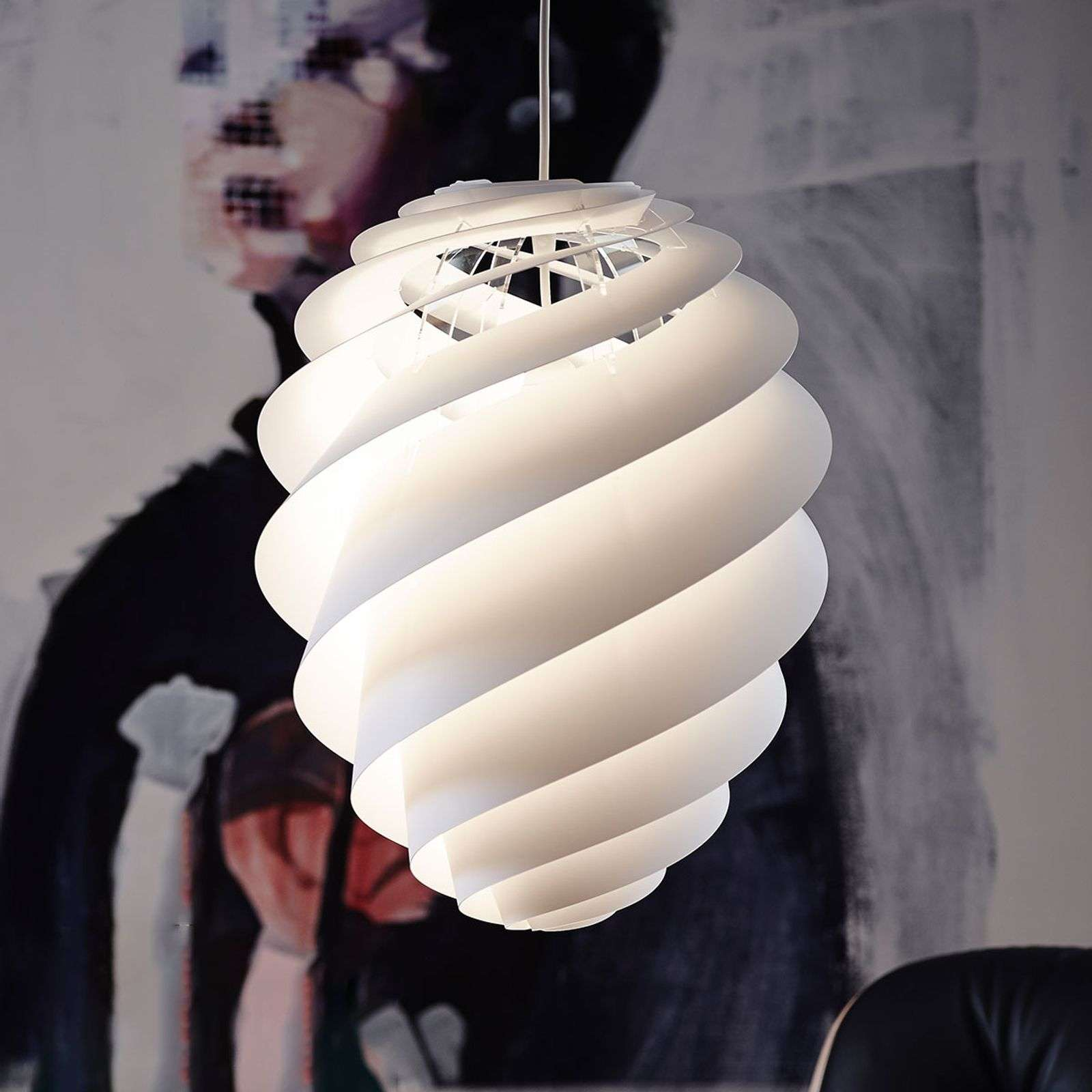 LE KLINT Swirl 2 Medium, suspension blanche