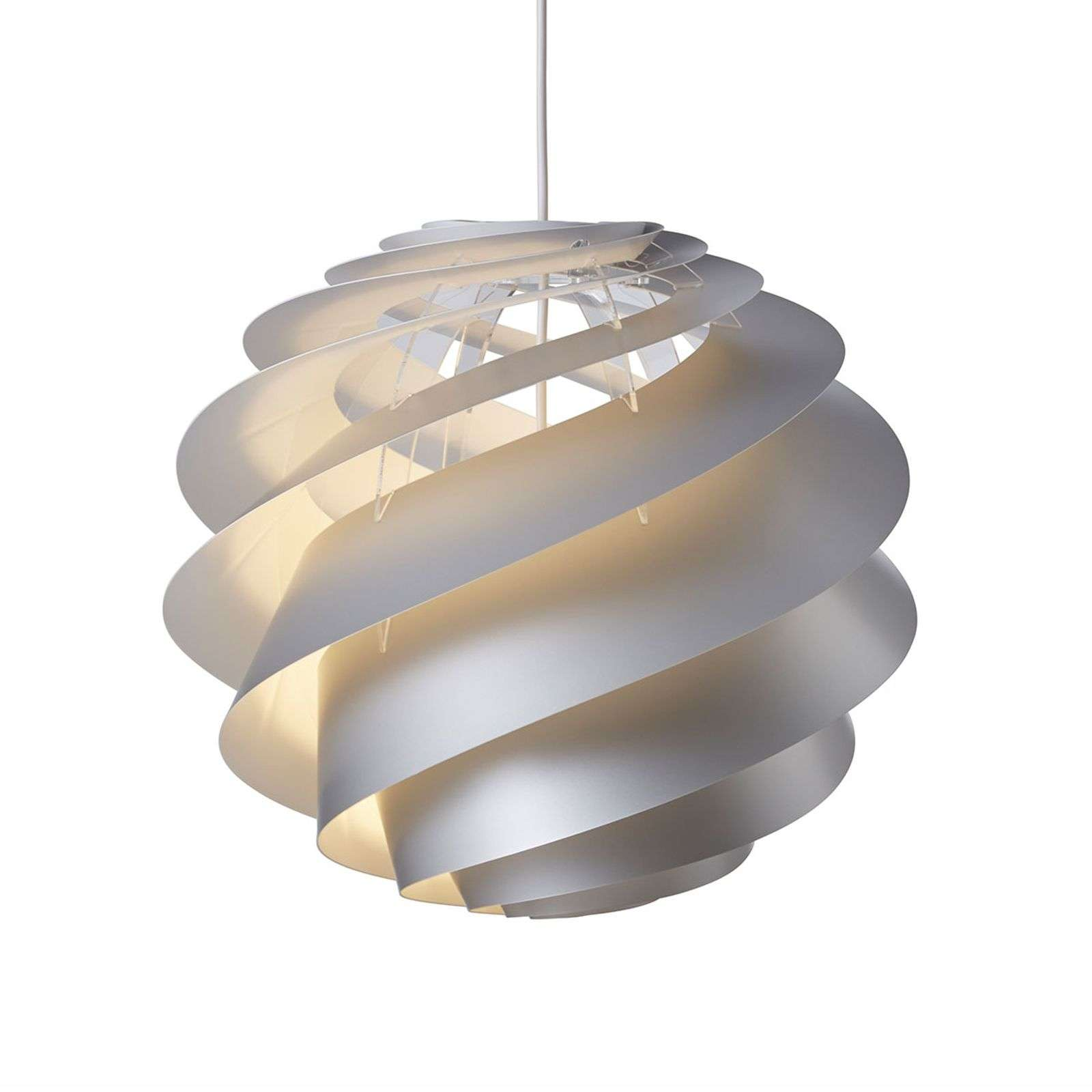 LE KLINT Swirl 3 Medium - suspension argentée