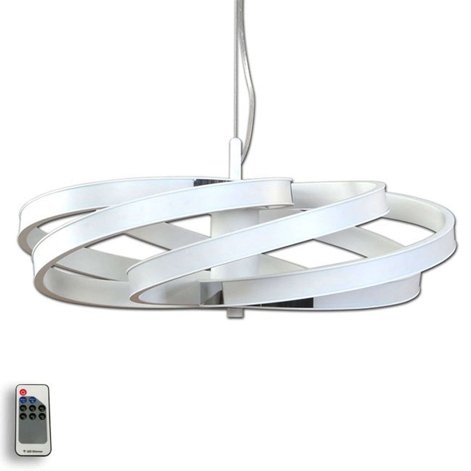 Suspension LED Zoya décorative, blanche