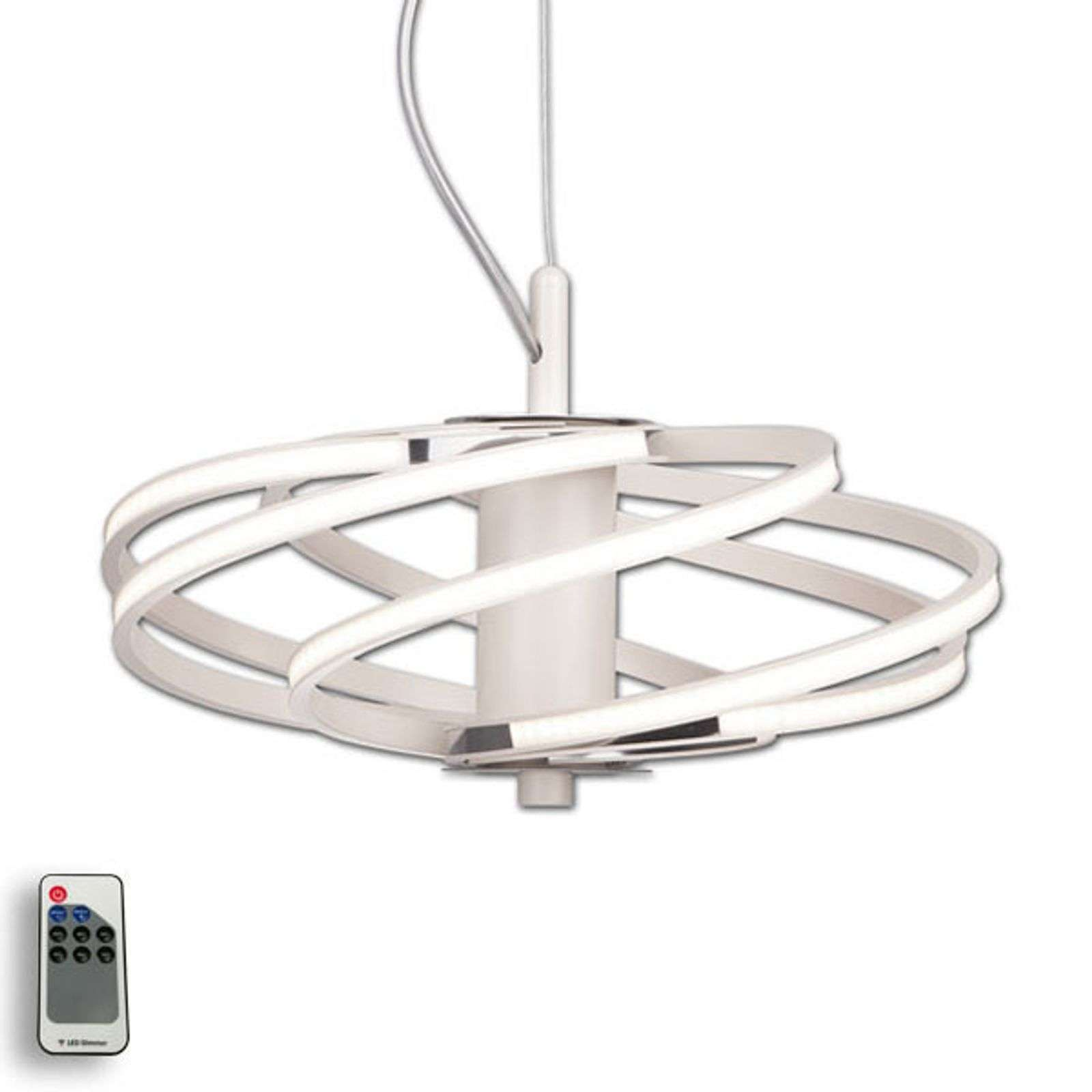 Tilia - suspension LED élégante en blanc