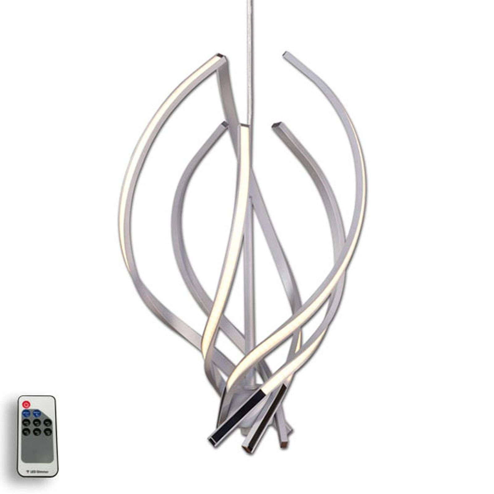 Suspension LED Vigo décorative, aluminium