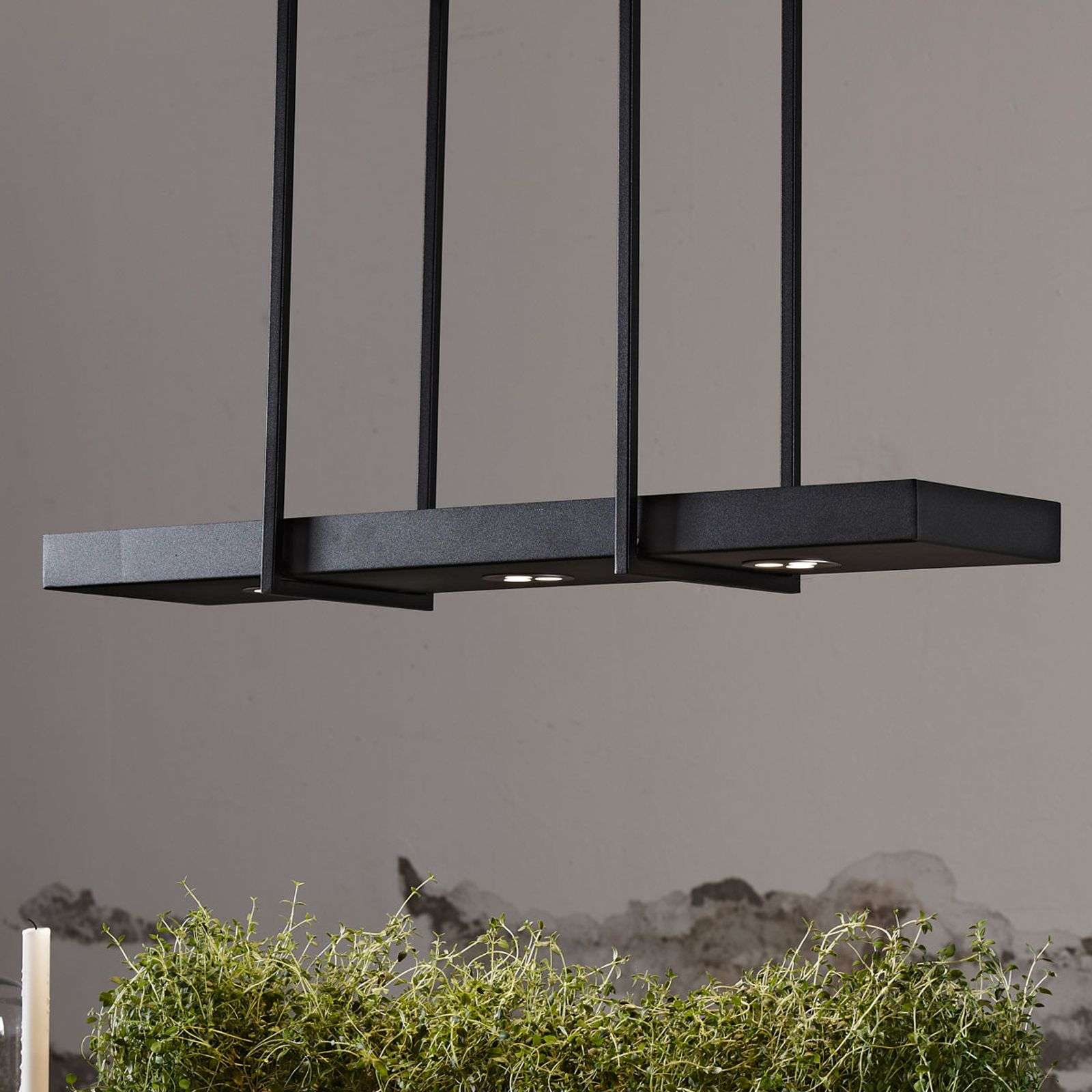 Suspension LED Tray en noir