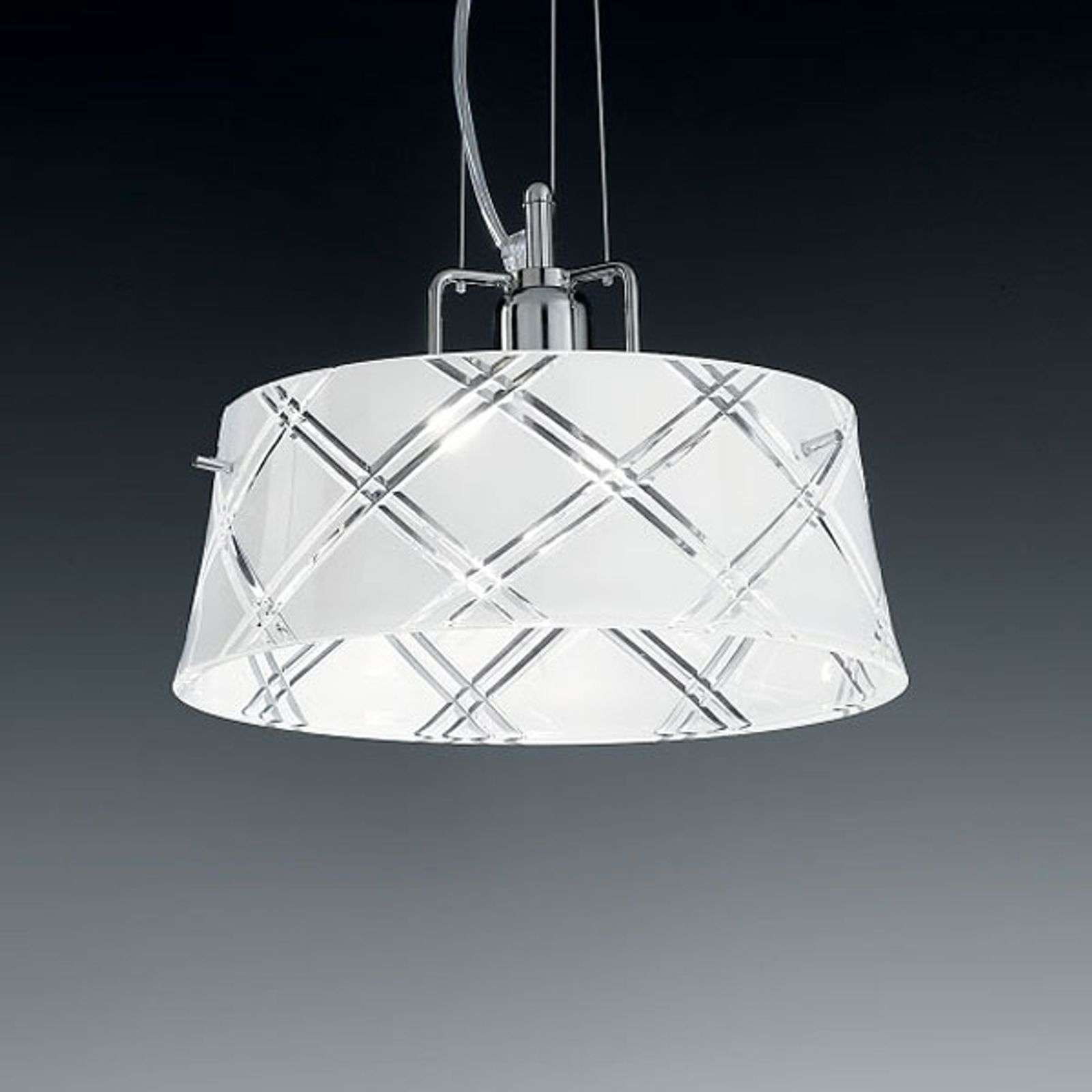Suspension élégante CORALLO 30, 1 lampe, blanc