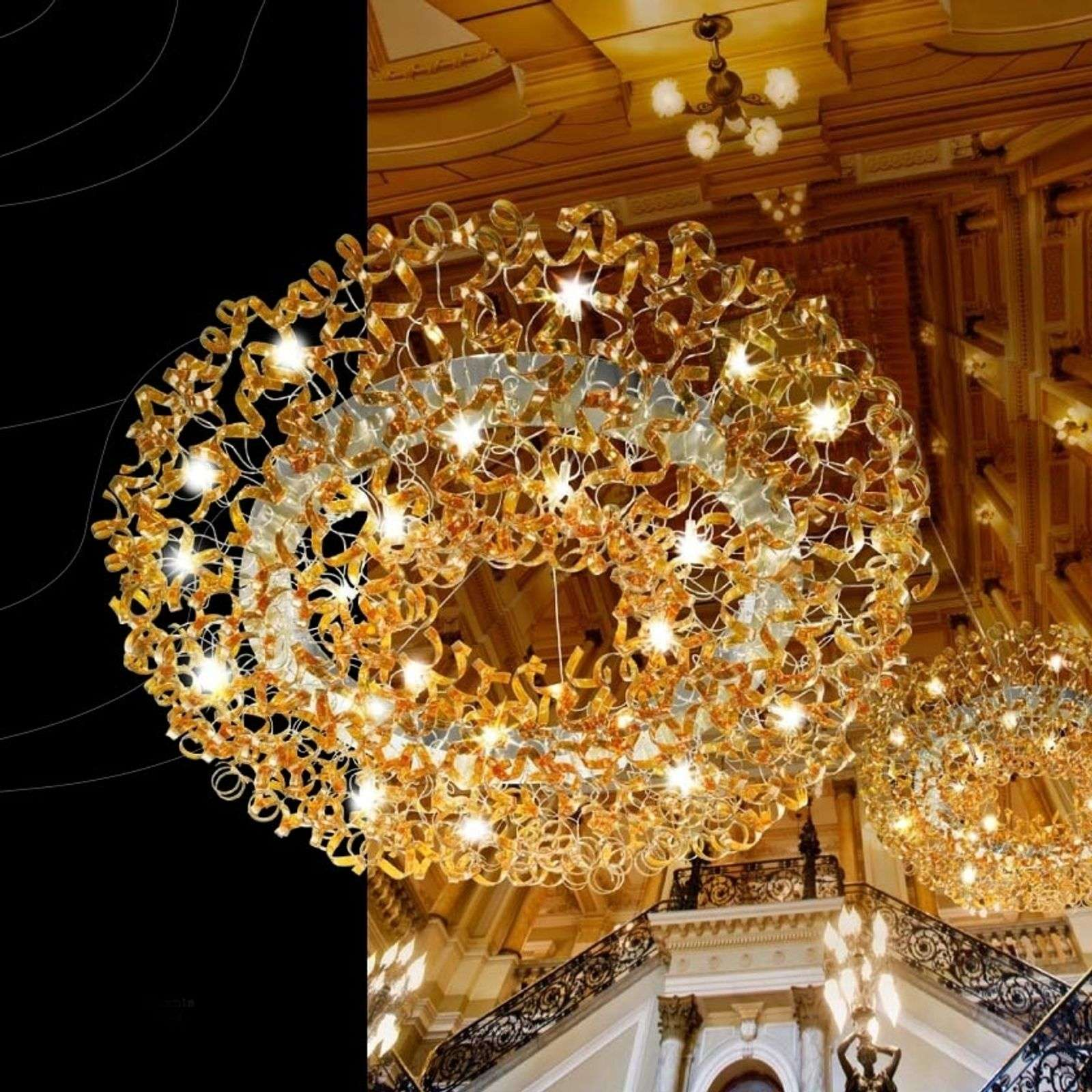 Suspension AMBER galbée, 170 cm