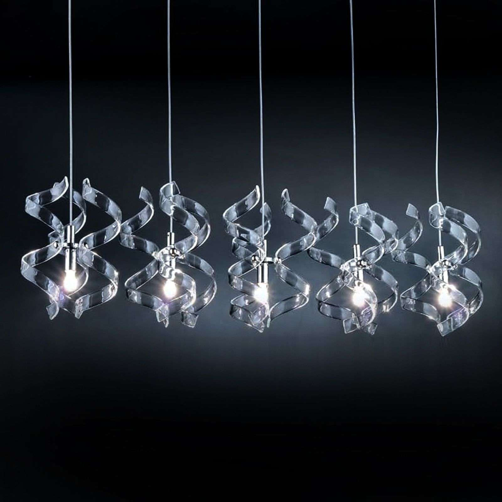 Suspension gracieuse SILVER, 5 lampes