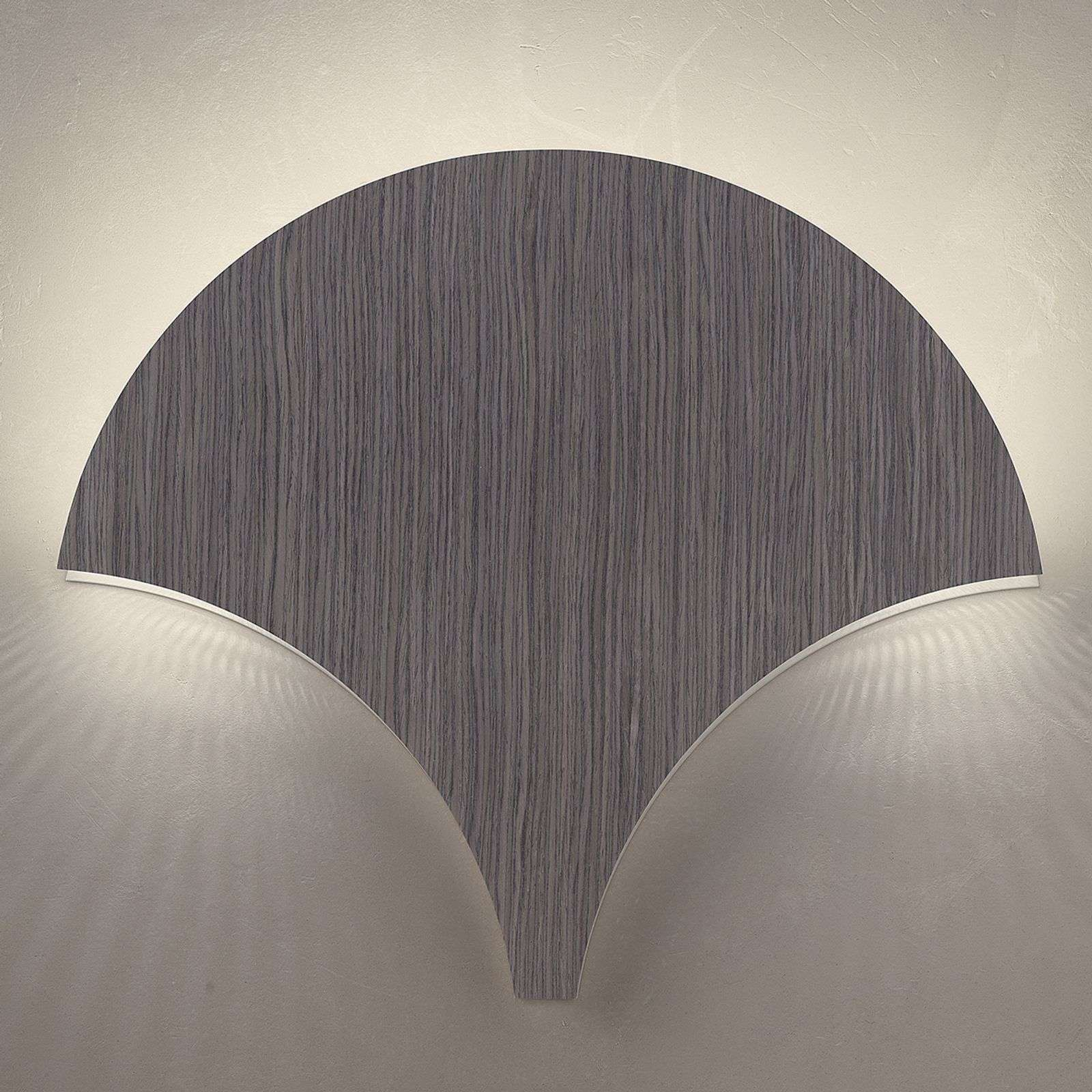 Applique LED Palm, gris abachi