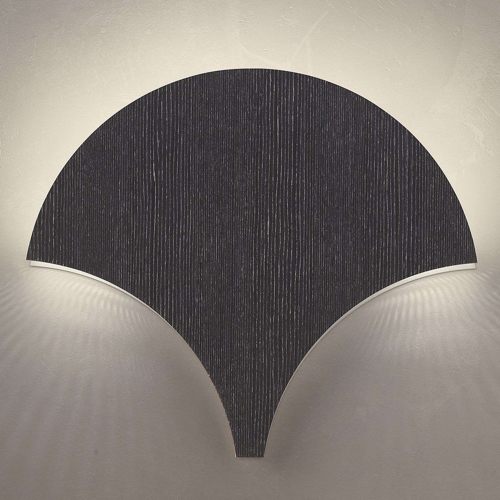 Applique LED Palm, noir-argenté