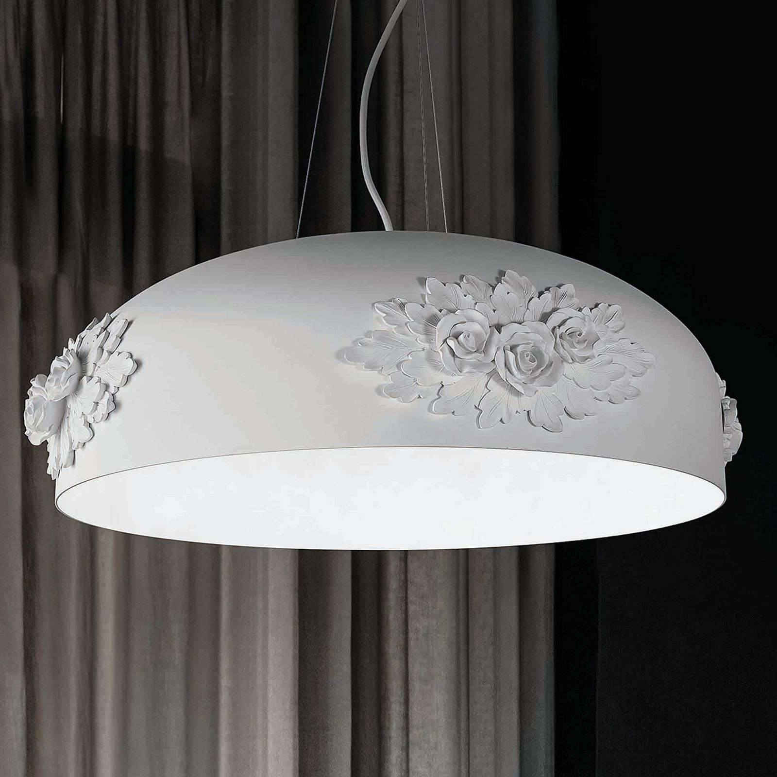 Suspension LED Dame en blanc, 65 cm