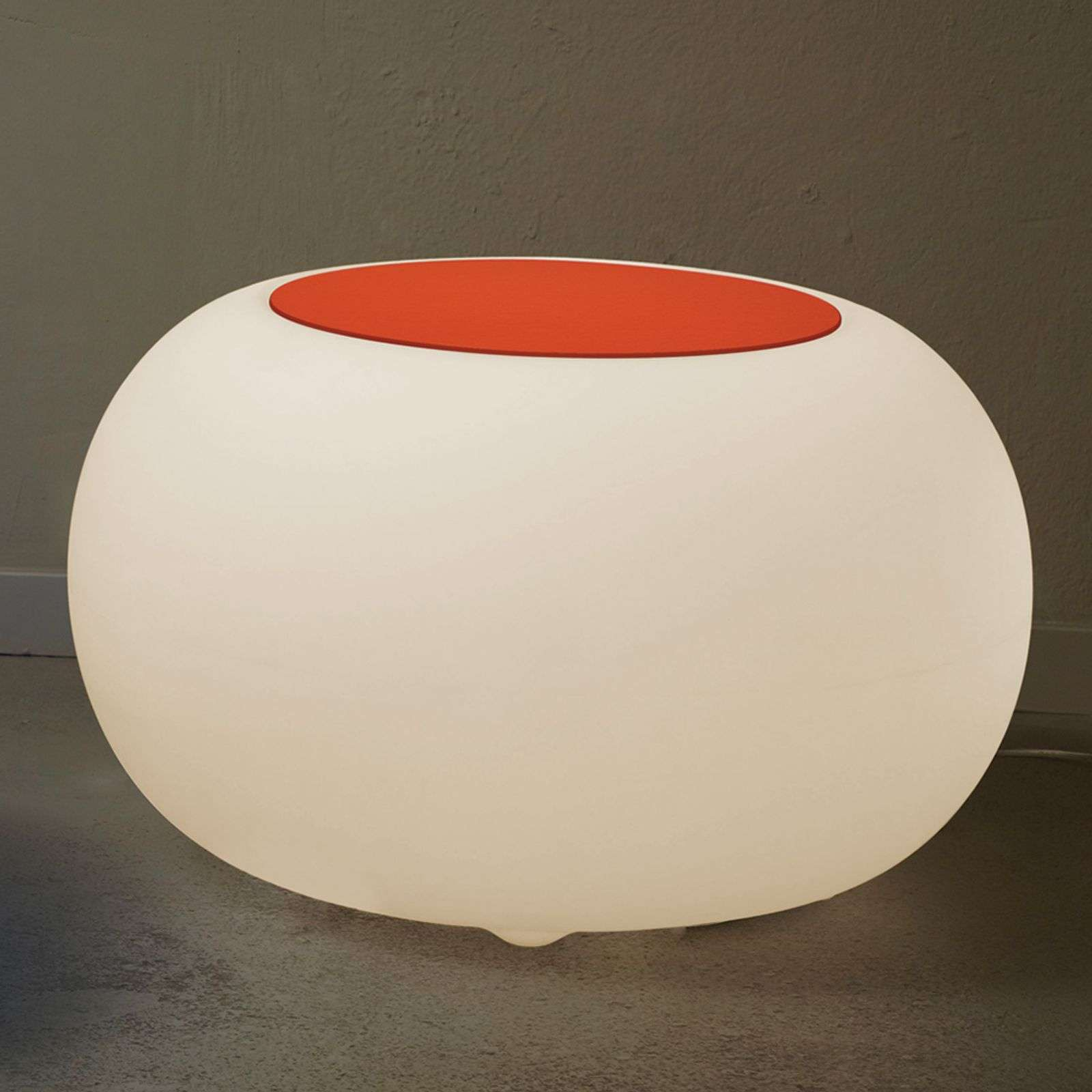 Table d'appoint BUBBLE LED RVB avec feutre orange