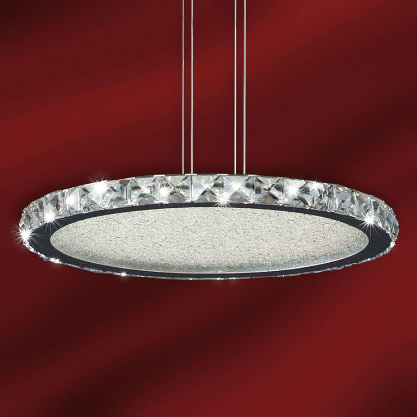 Suspension LED ronde Crystal 42 cm