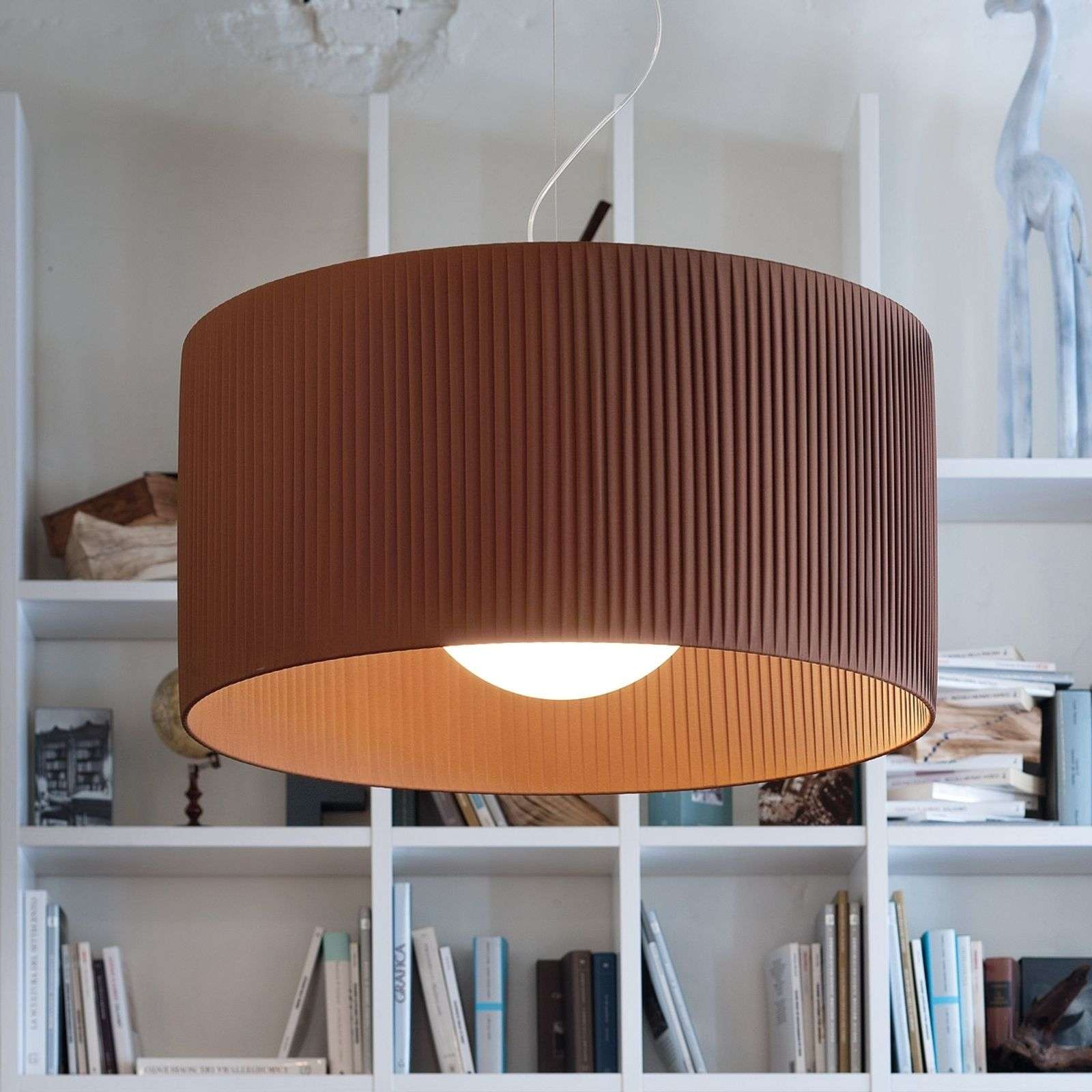 Charmante suspension Fog Plissé 35 moka