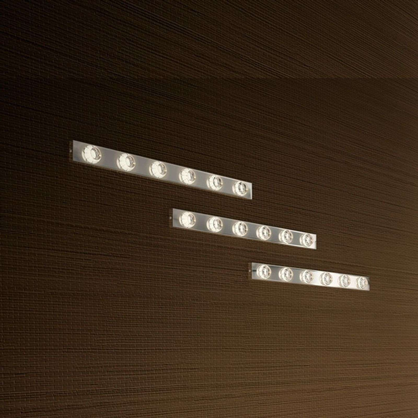 Applique décorative à 6 lampes LED Puns chrome