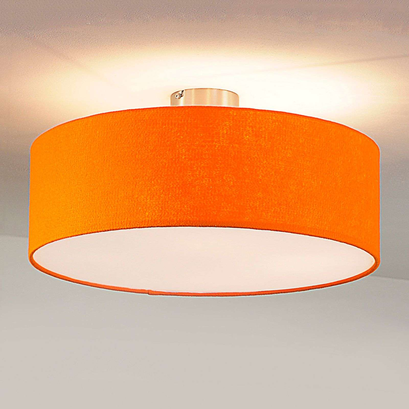 Plafonnier rond en feutre, orange