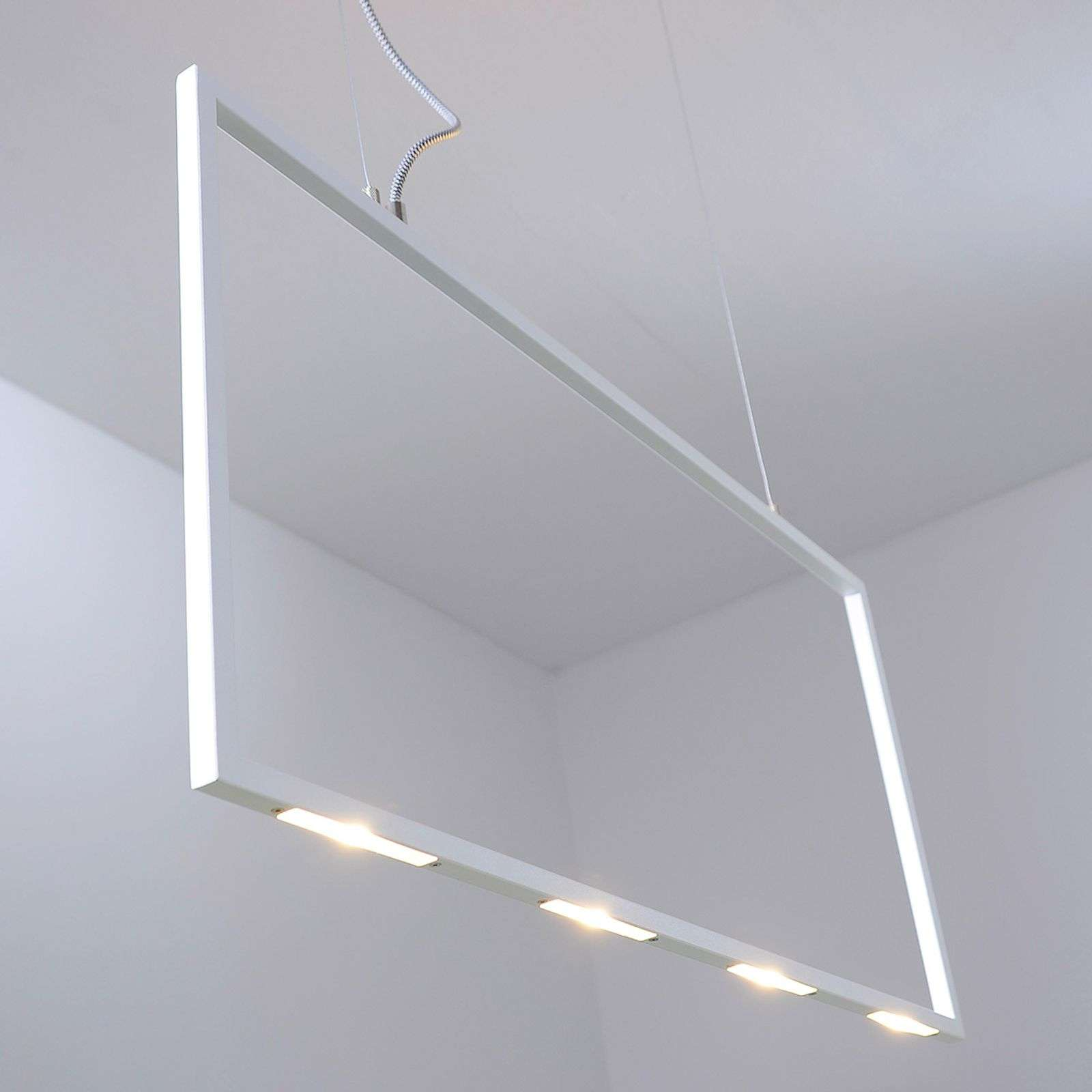 Suspension LED rectangulaire Kona, 80 cm long
