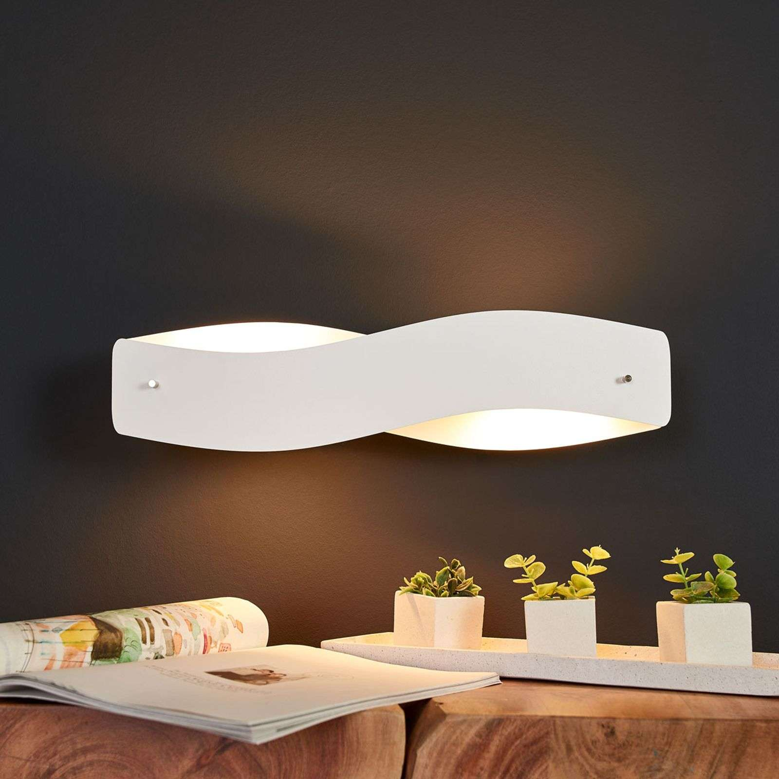 Applique LED blanche Lian dimmable
